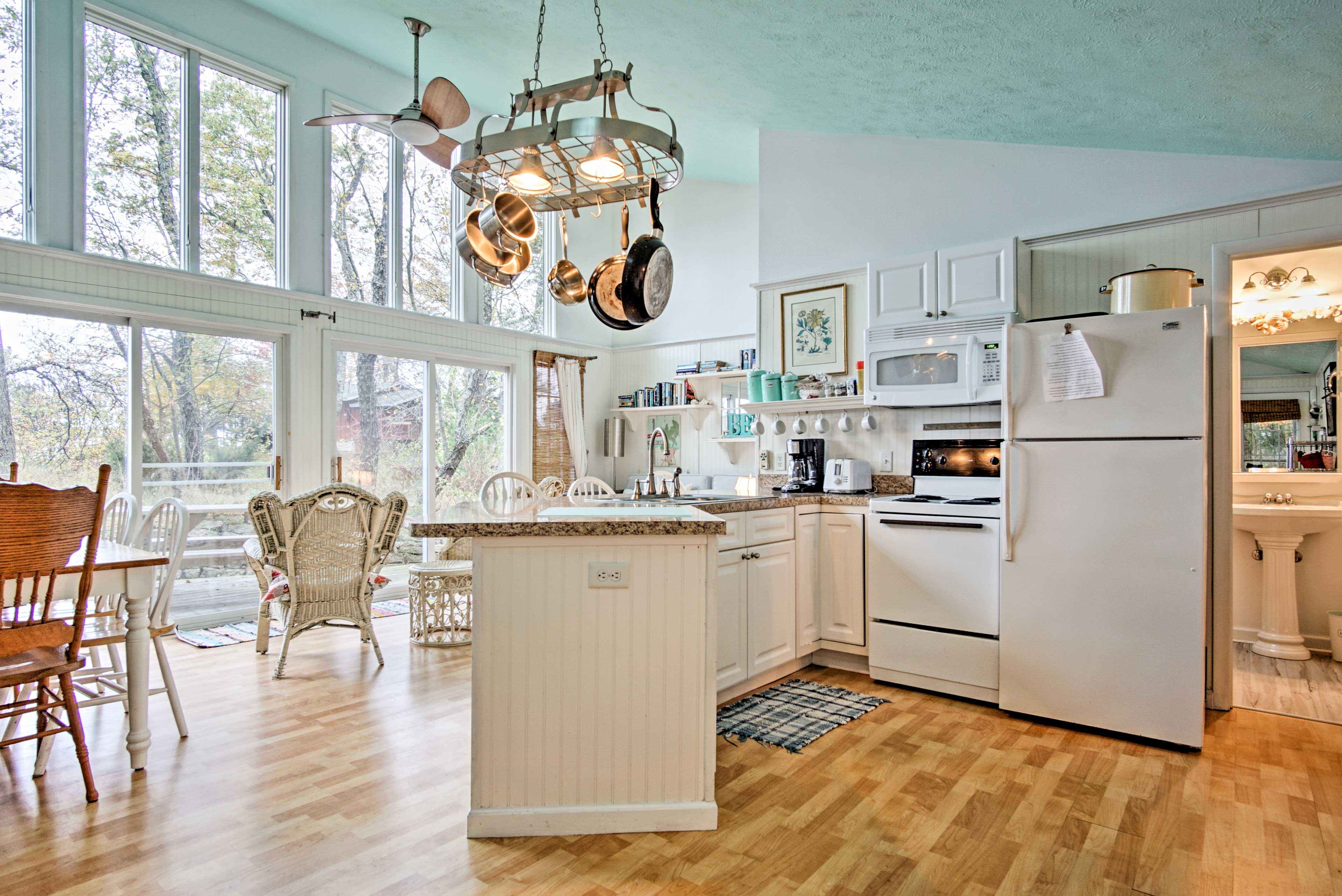 'Sandpiper' features a well-appointed interior complete with beach-themed decor.