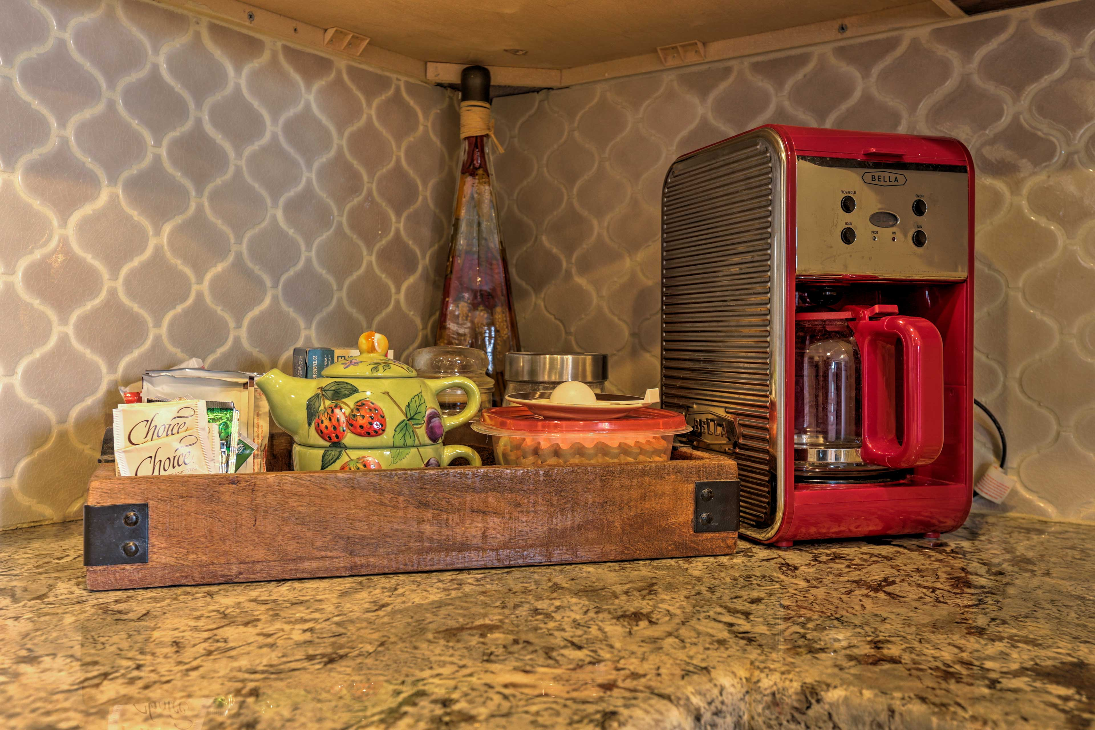 Additional appliances are sure to make you feel right at home.