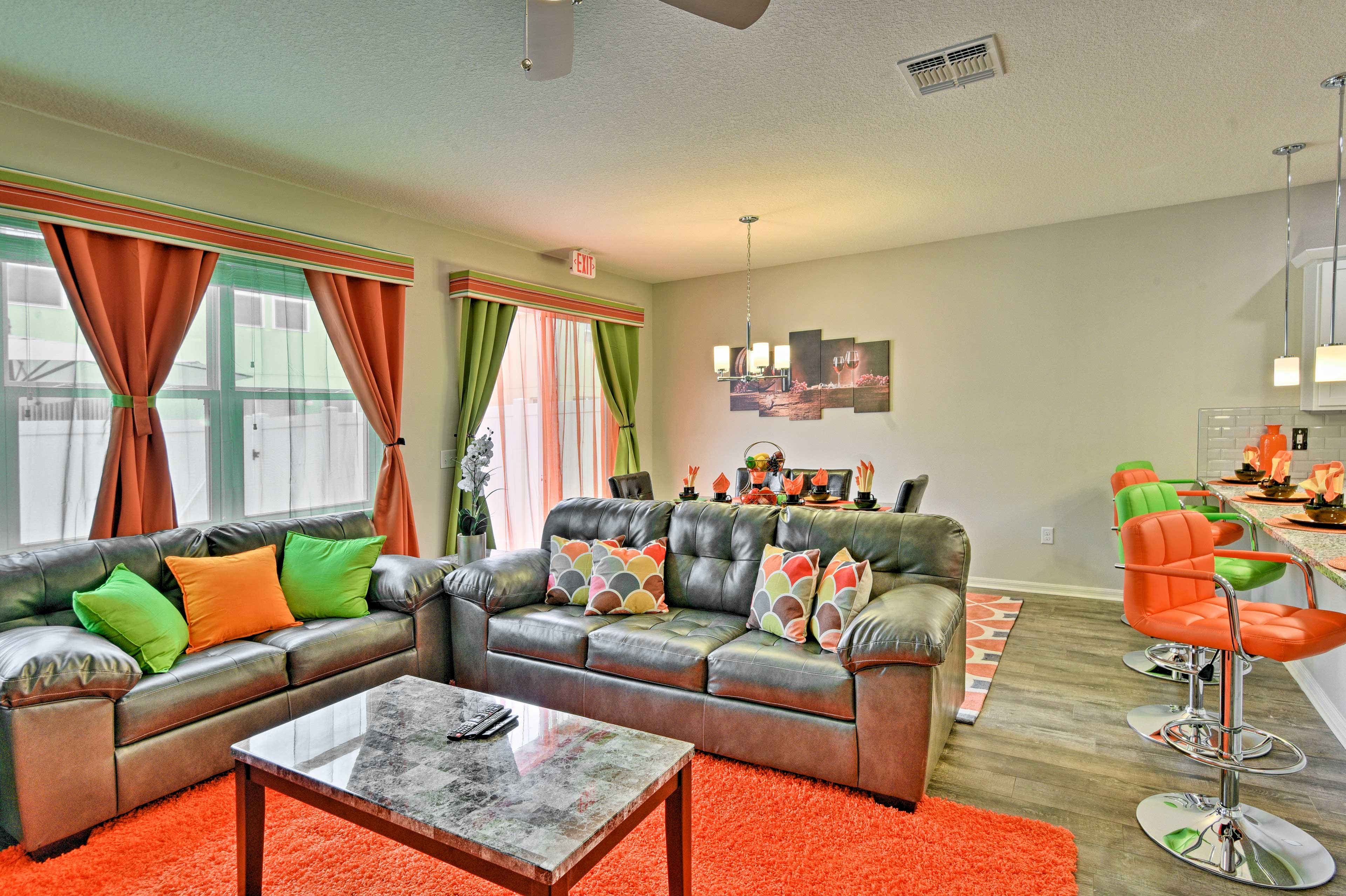 Comfortable furnishings and modern decor welcome you for a happy holiday!