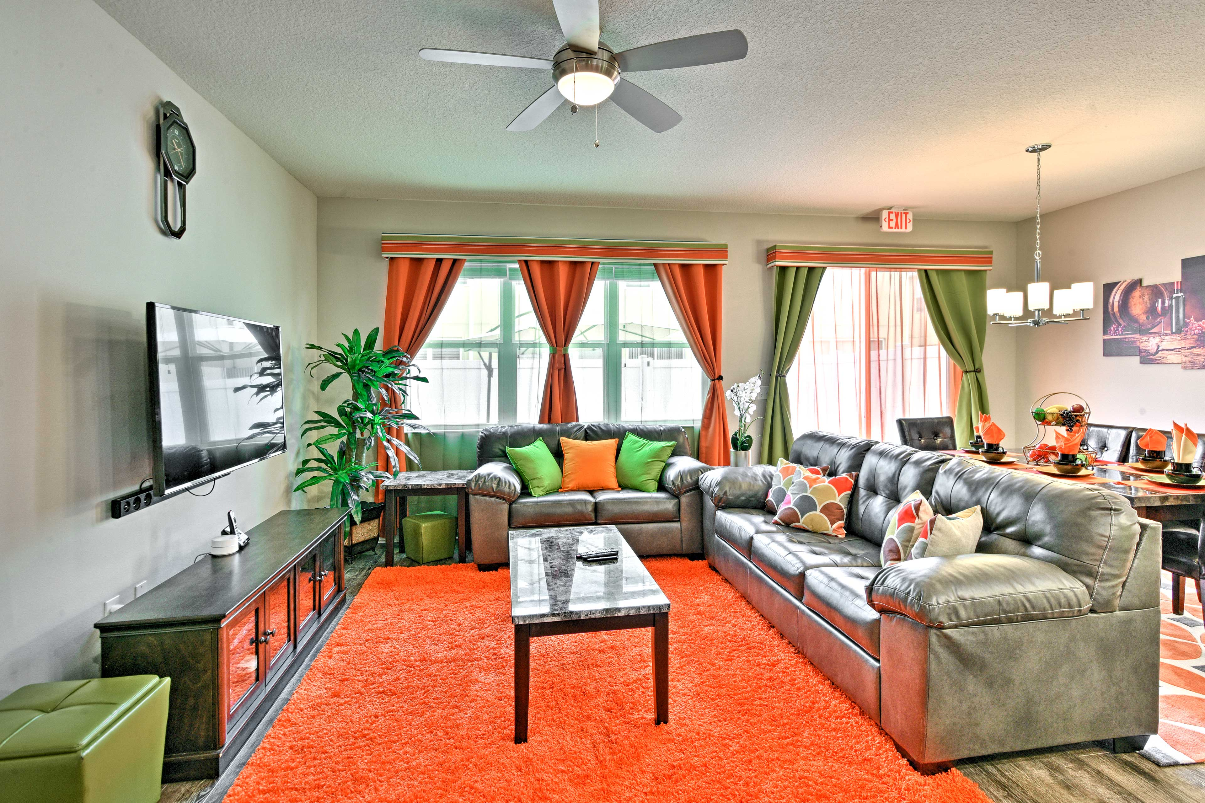The living room is equipped with a flat-screen Smart TV - one of 3 in the home.