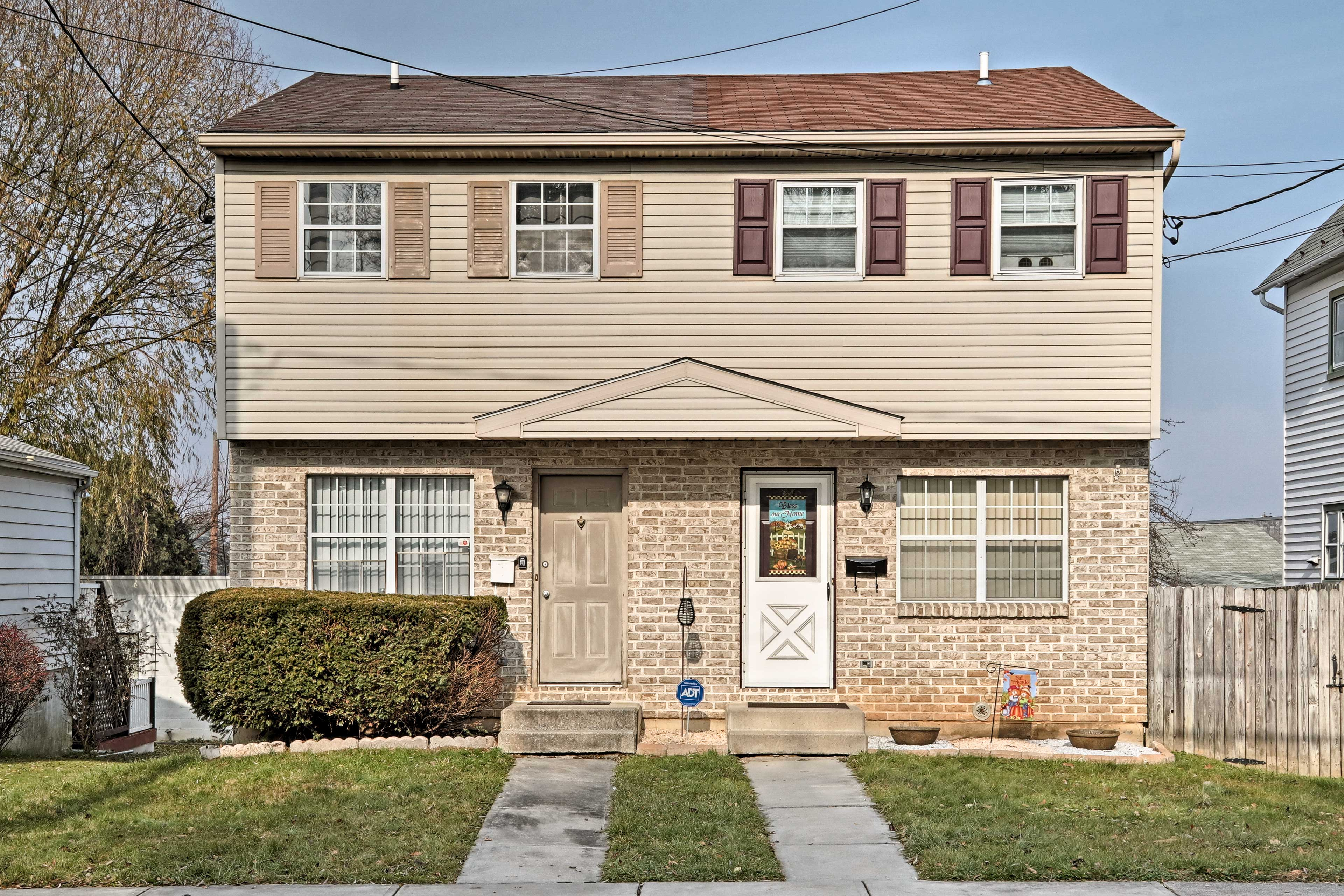 Explore the lively city of Allentown from this vacation rental home!