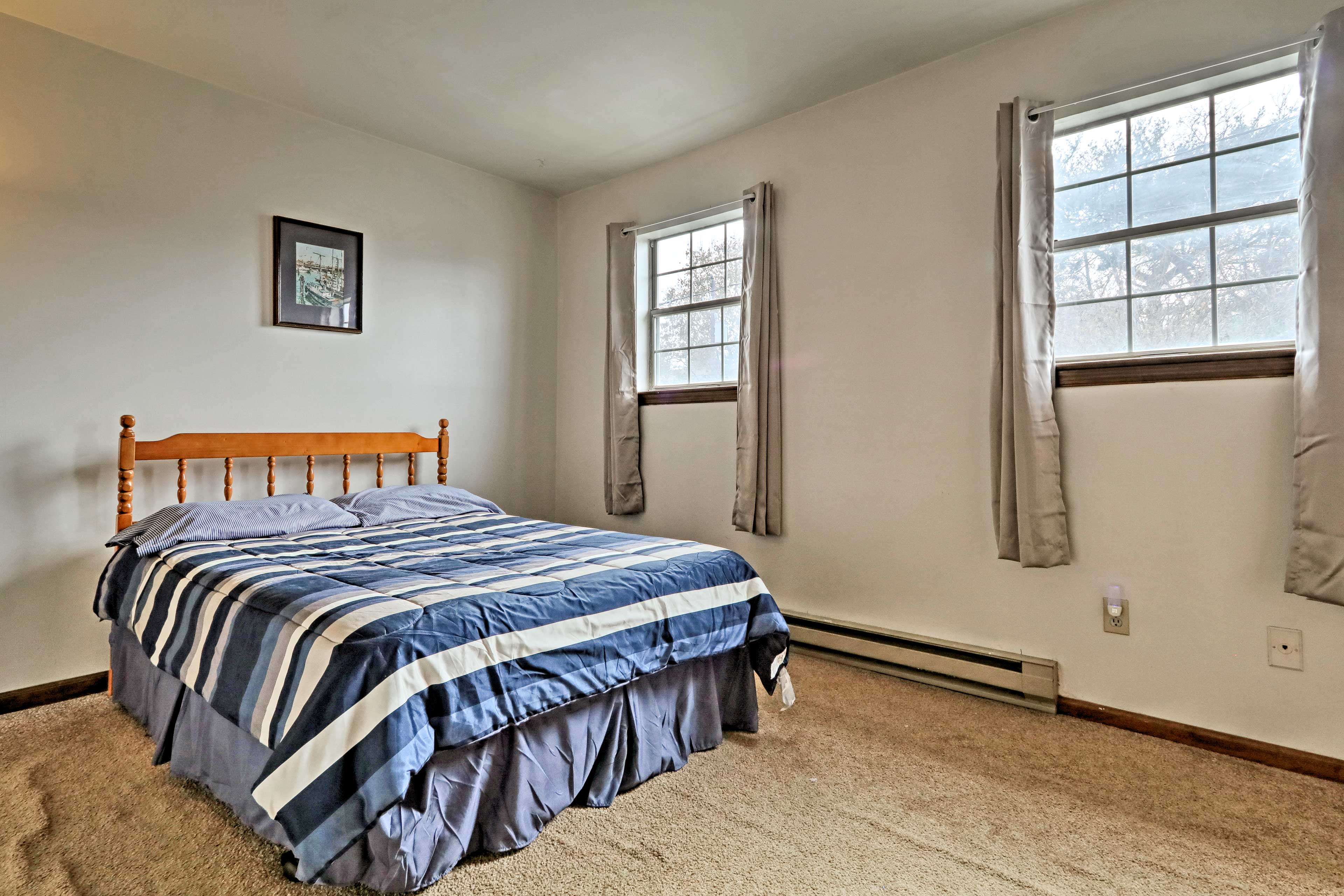Another full bed can be found in the second bedroom.
