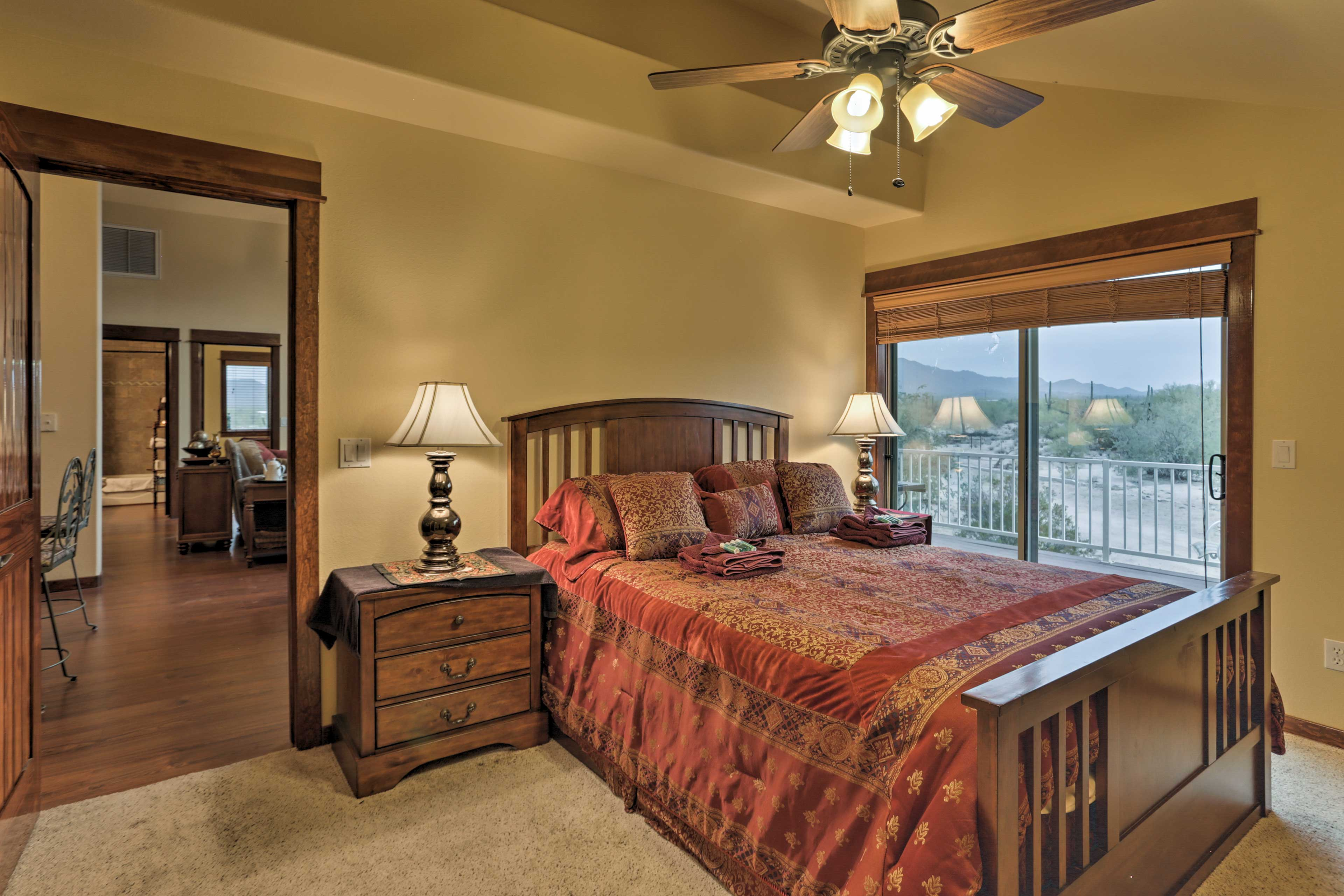 The condo's 2 bedrooms provide 4 guests with comfortable accommodations.