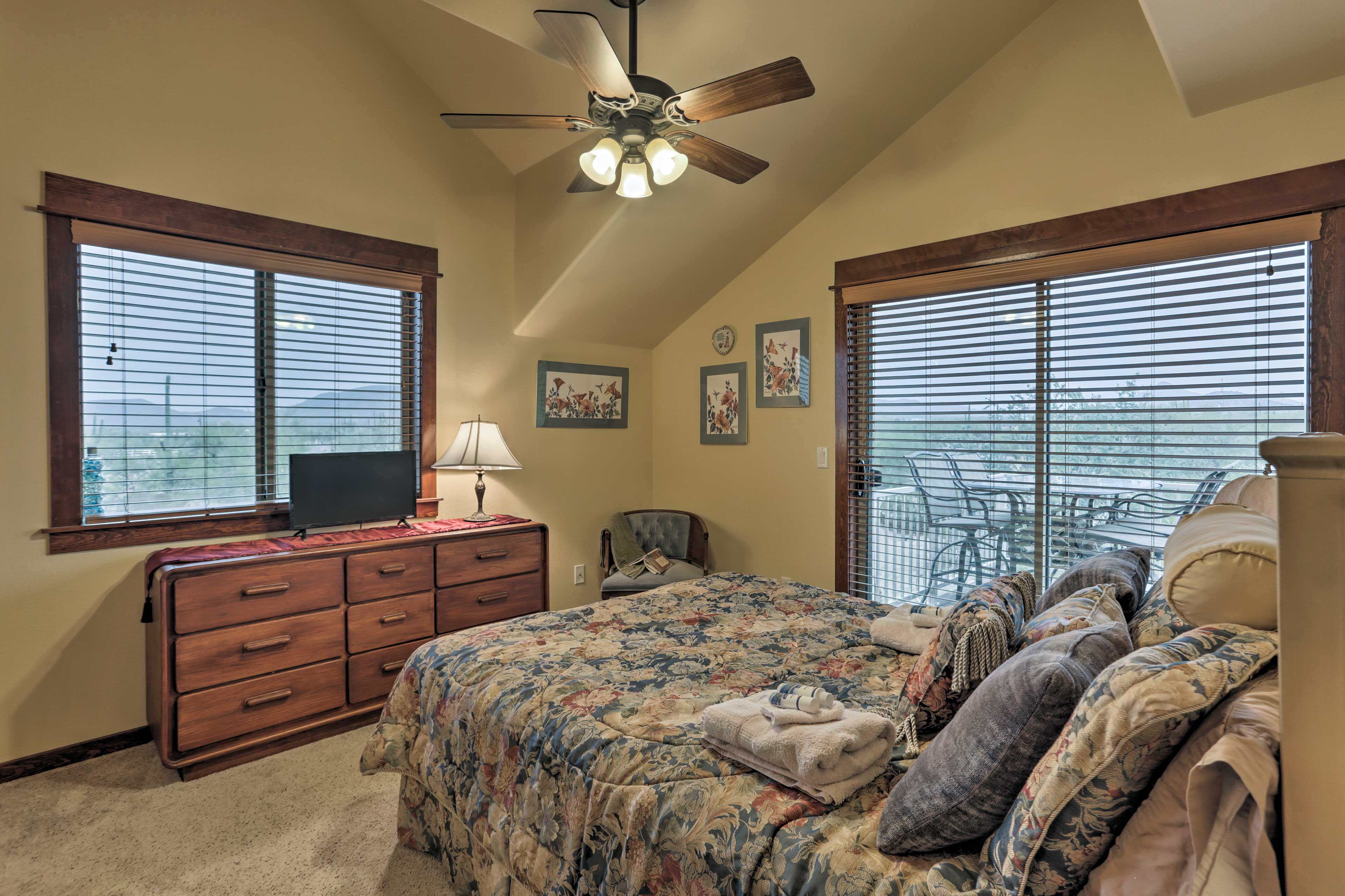 Cool things off with the ceiling fan!