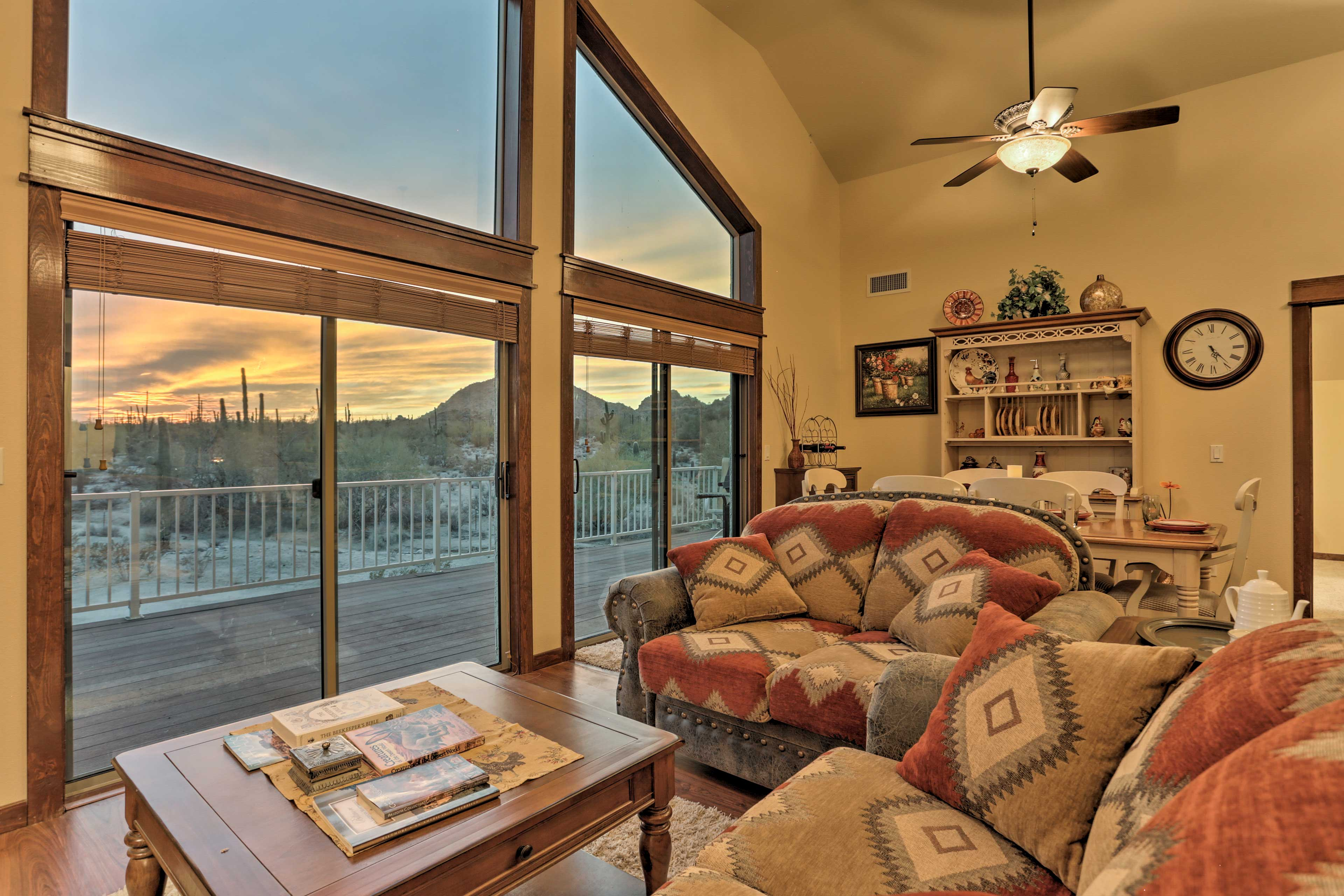 A true desert getaway awaits at this quaint Maricopa vacation rental condo!