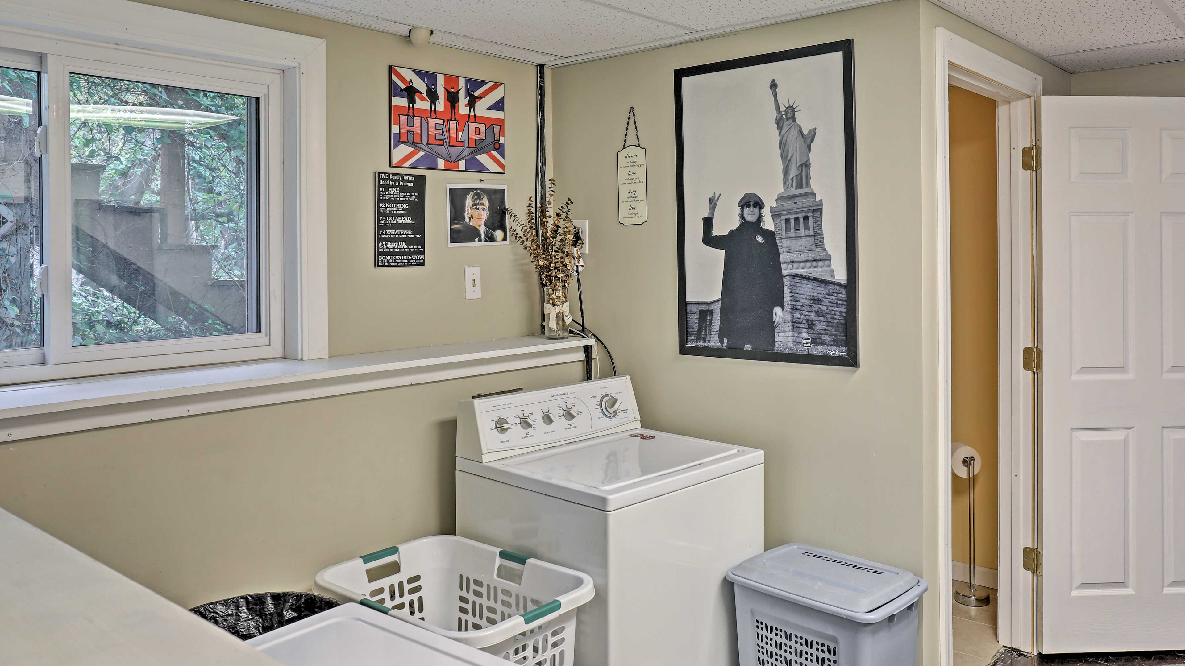 Keep your clothes fresh with the laundry machines.