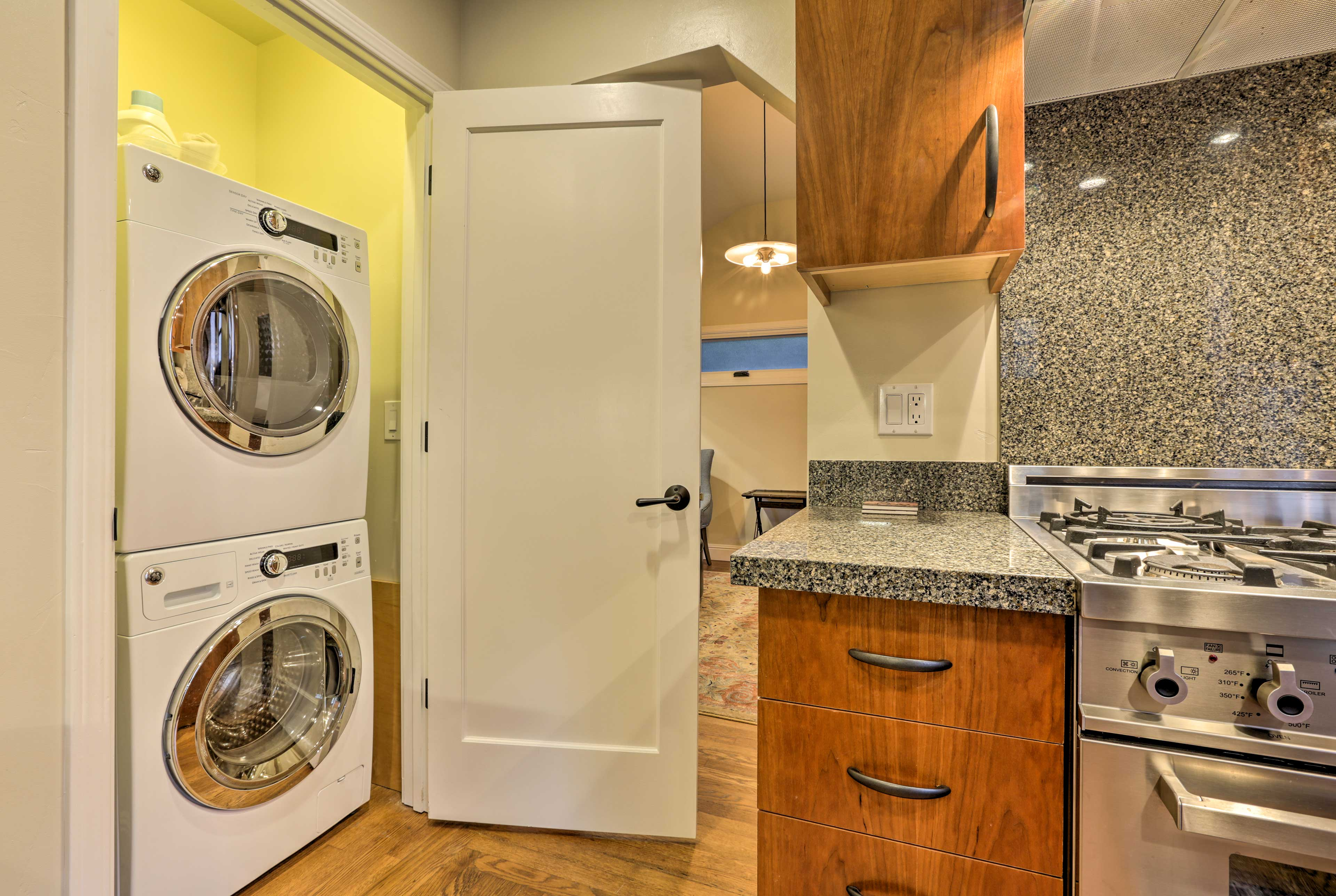 You'll feel right at home with the addition of in-unit laundry machines.