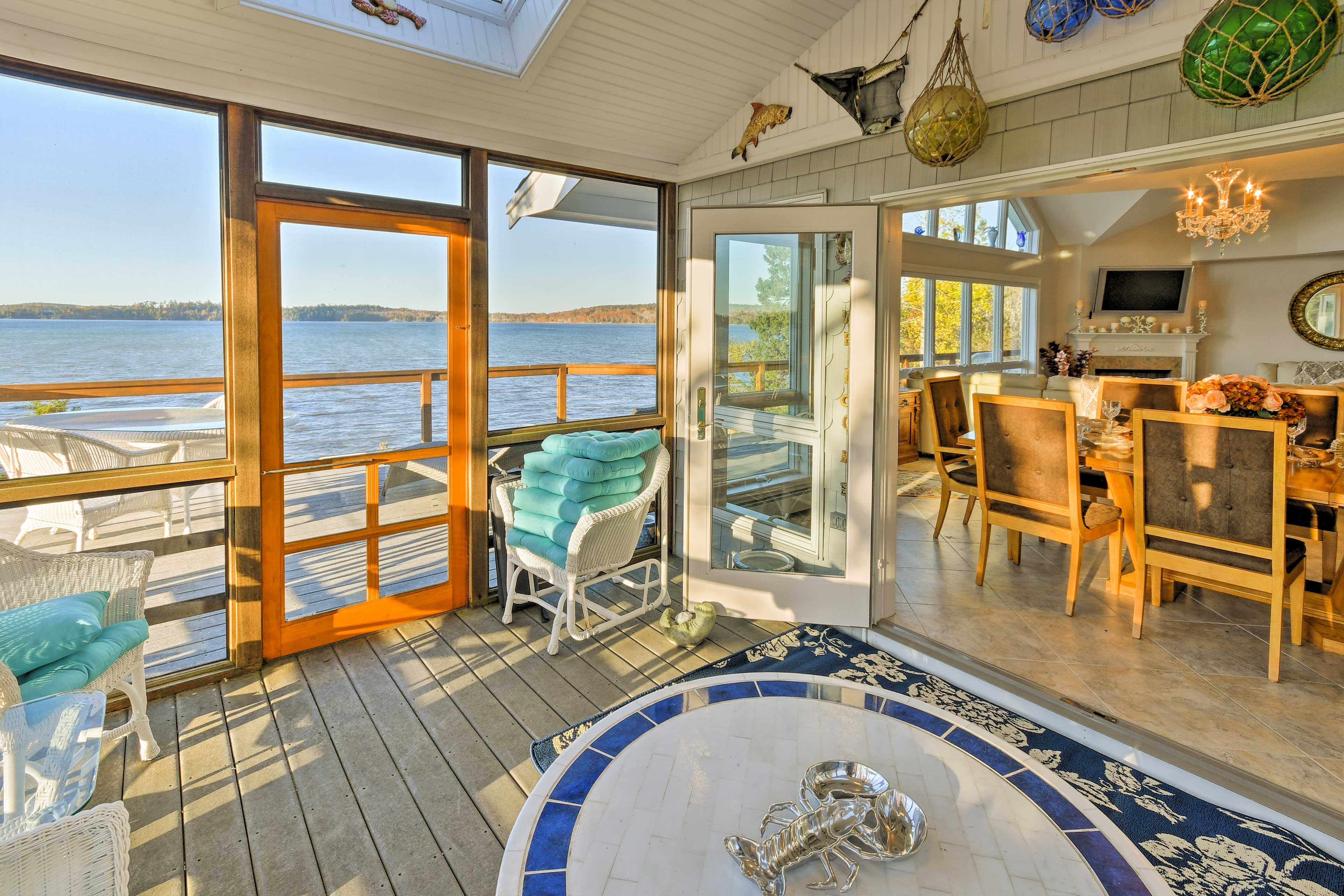 Experience the breathtaking views of Bar Harbor from the second-floor balcony.