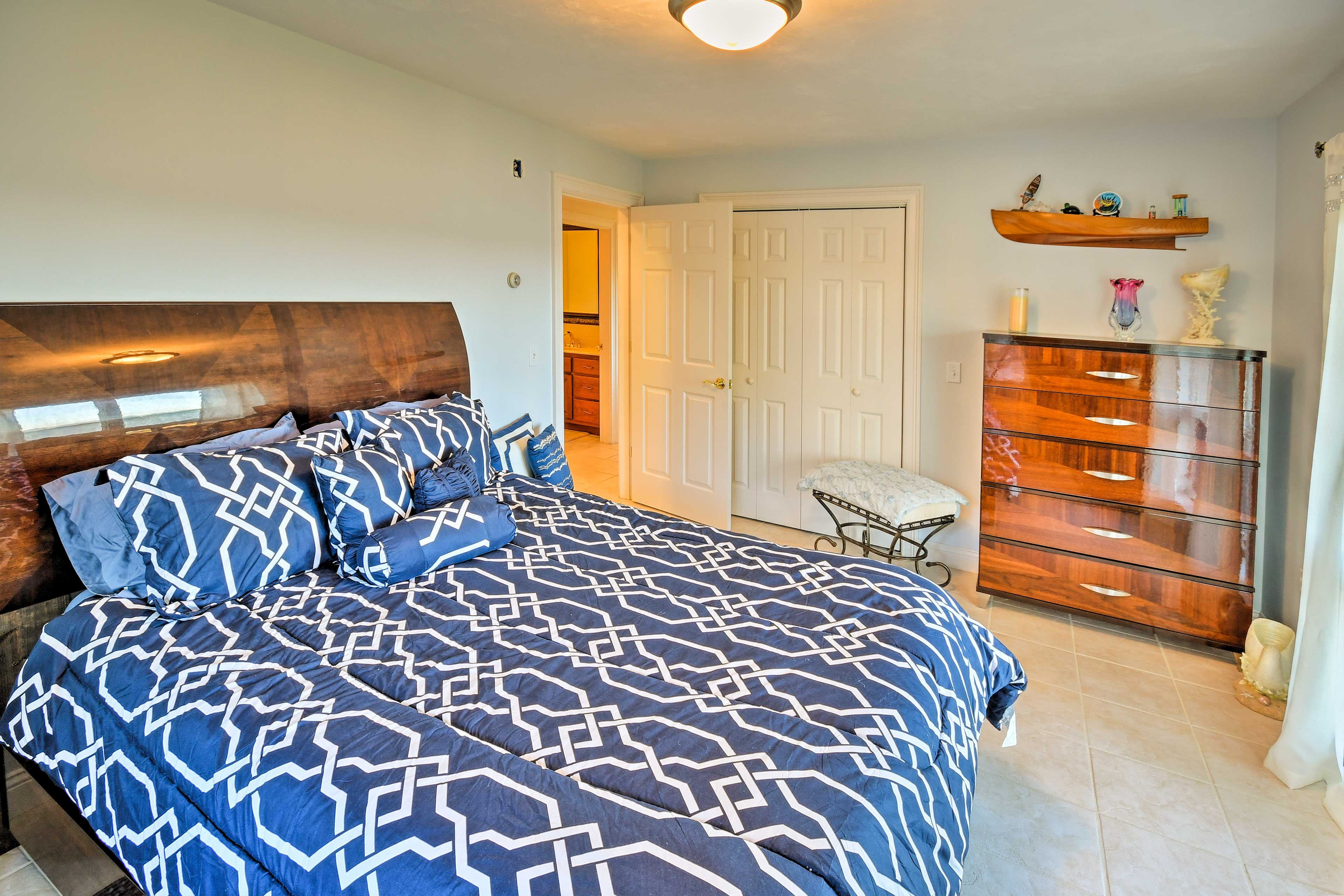 You'll find 3 bedrooms downstairs - each featuring an ocean view!