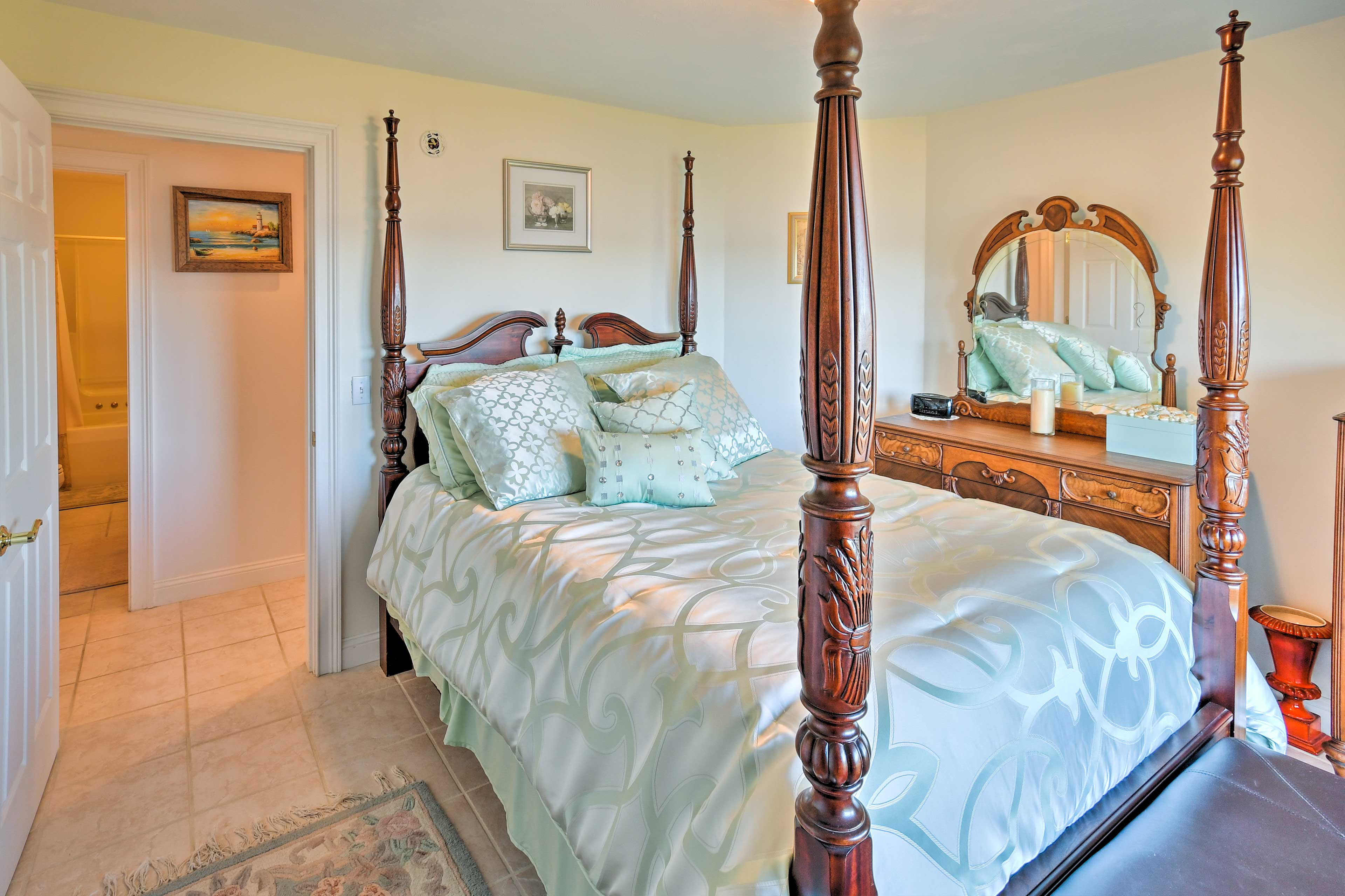 You're ensured peaceful slumbers from the queen bed in the third bedroom.