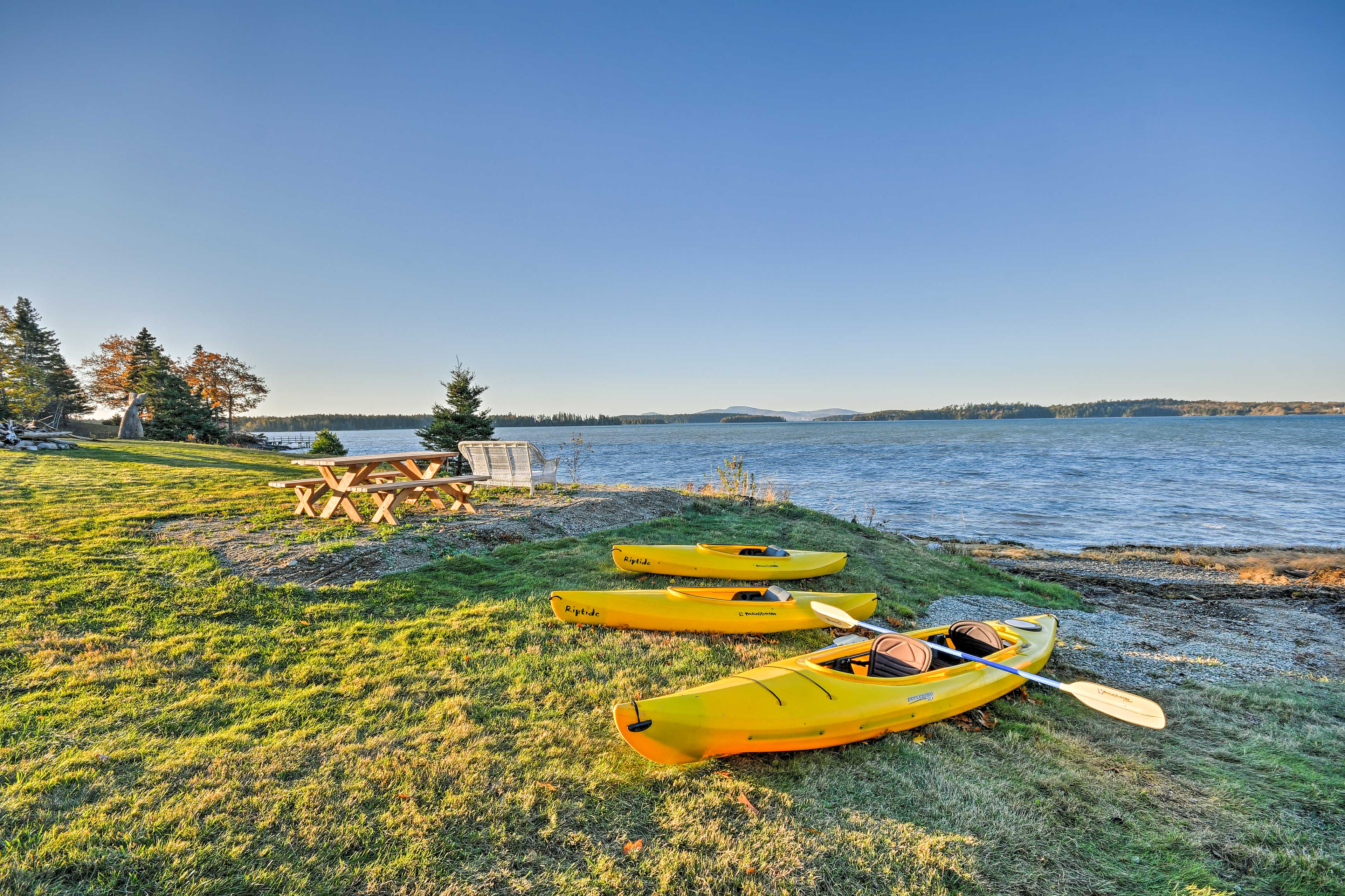 Take a kayak trip out onto the ocean - just one of the many perks!