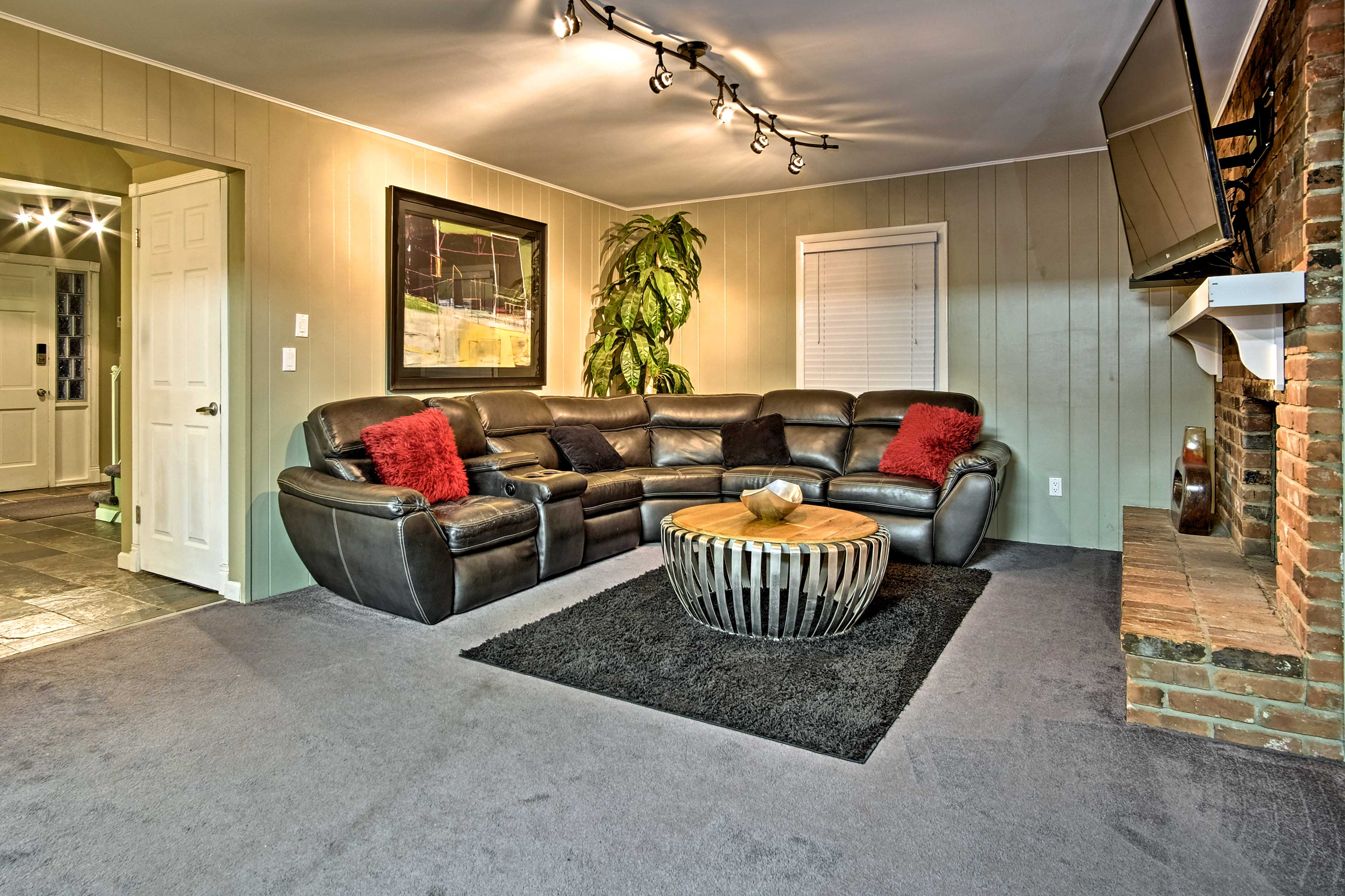 This home boasts 2 lovely living areas.
