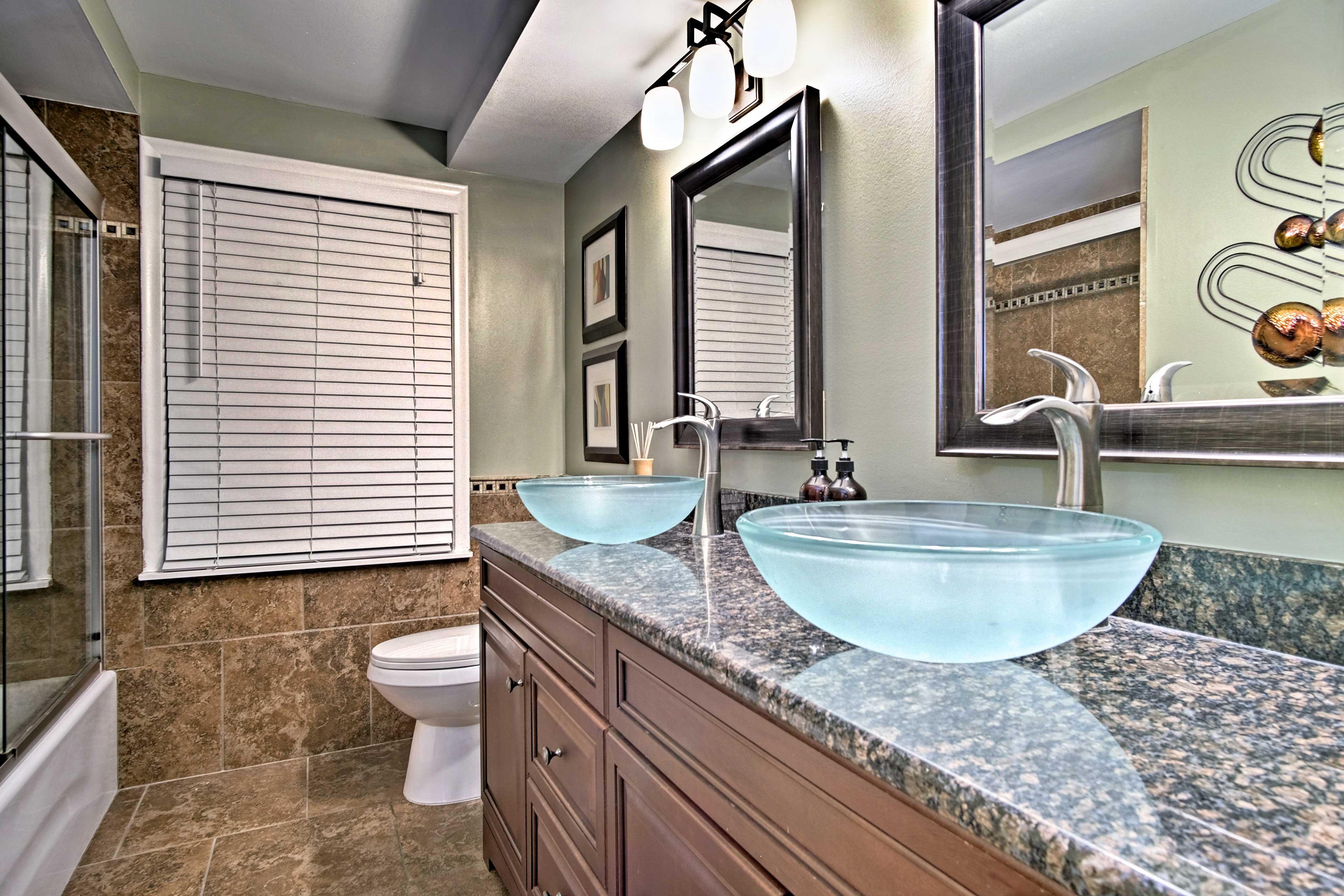 This bathroom boasts Jack-and-Jill sinks!