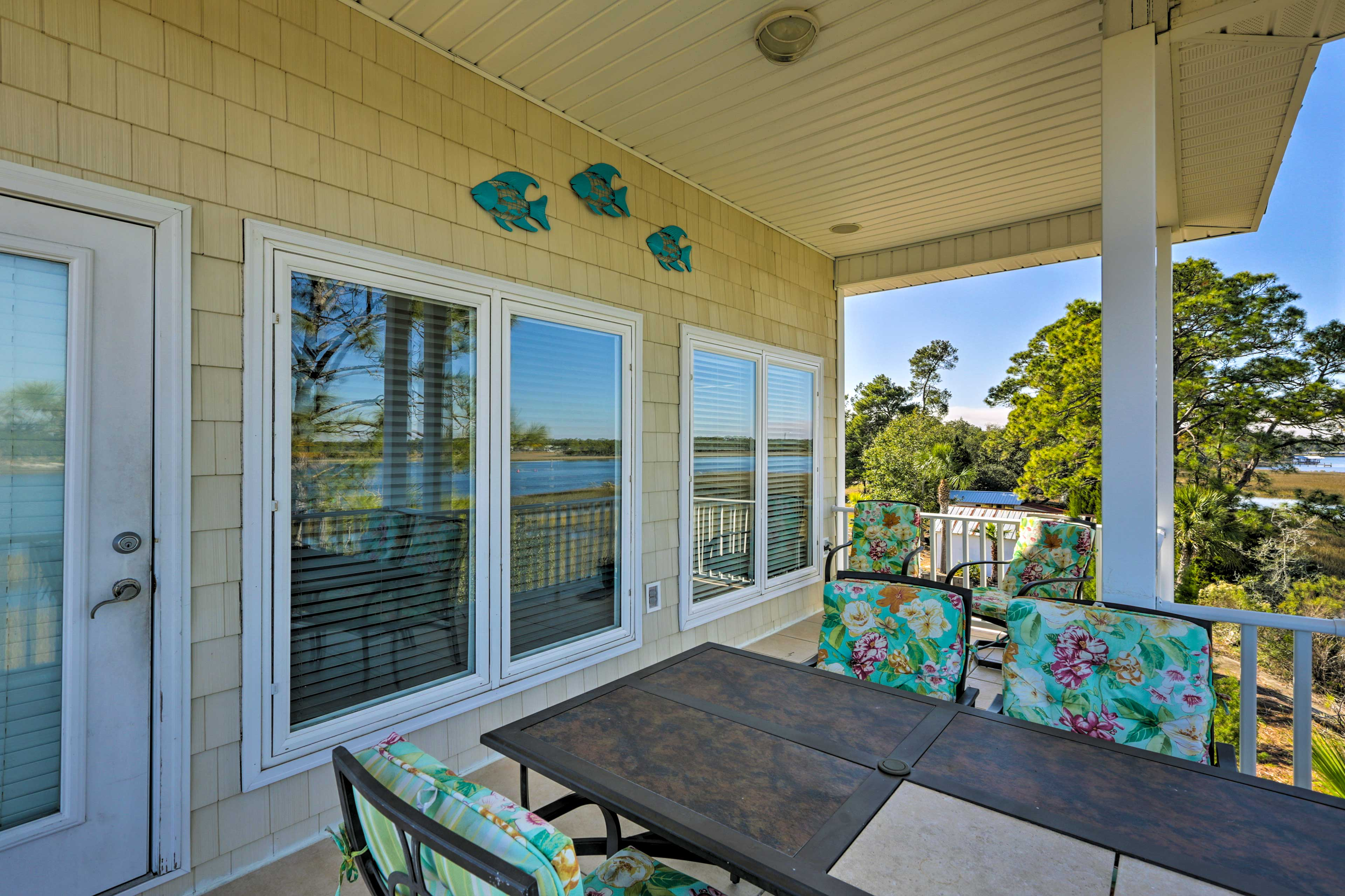 This waterfront terrace will easily become your go-to spot!