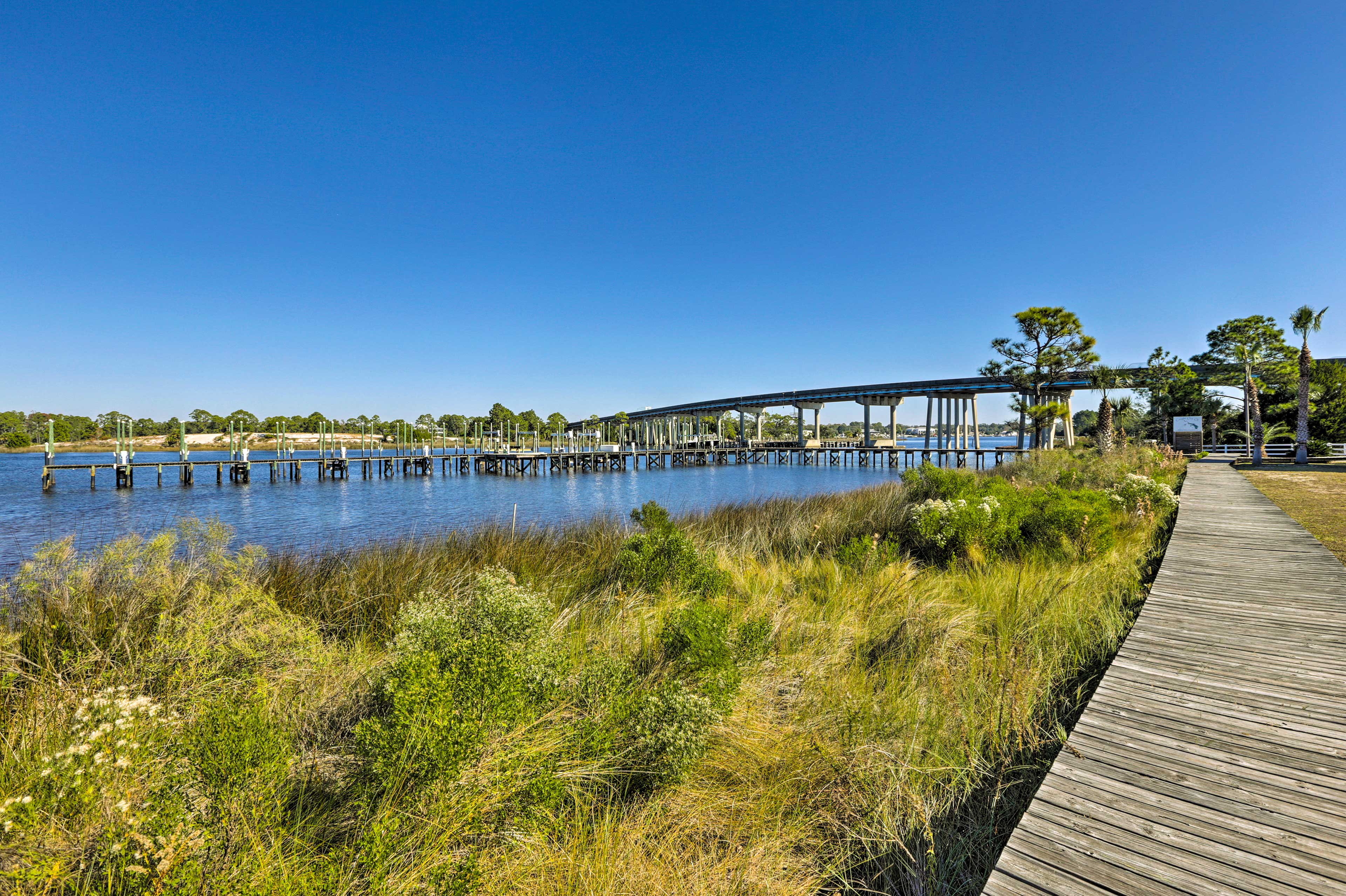 Take advantage of the home's private dock, boat slip and fish cleaning area during your stay!