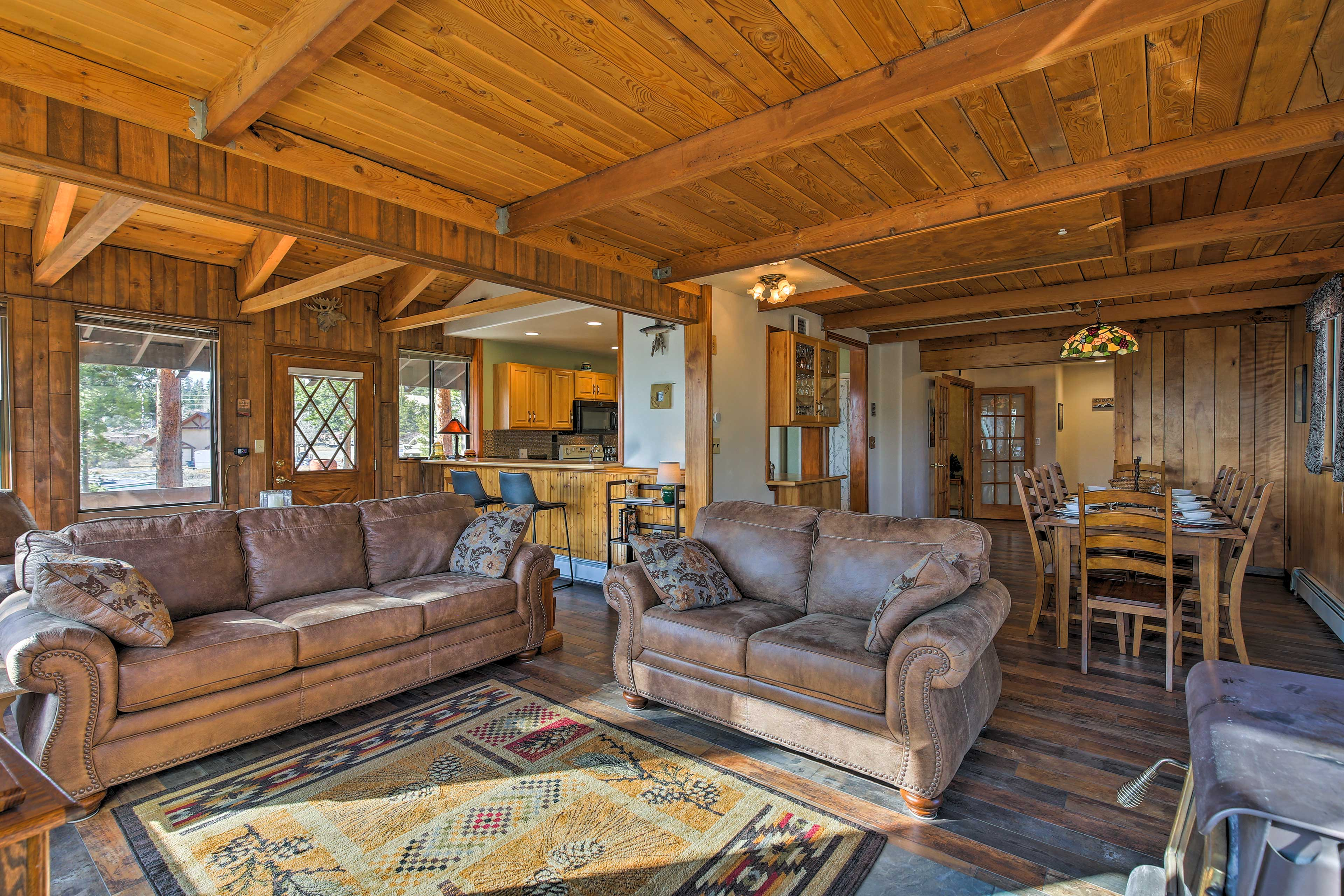 Easily entertain guests in the open living and dining areas.