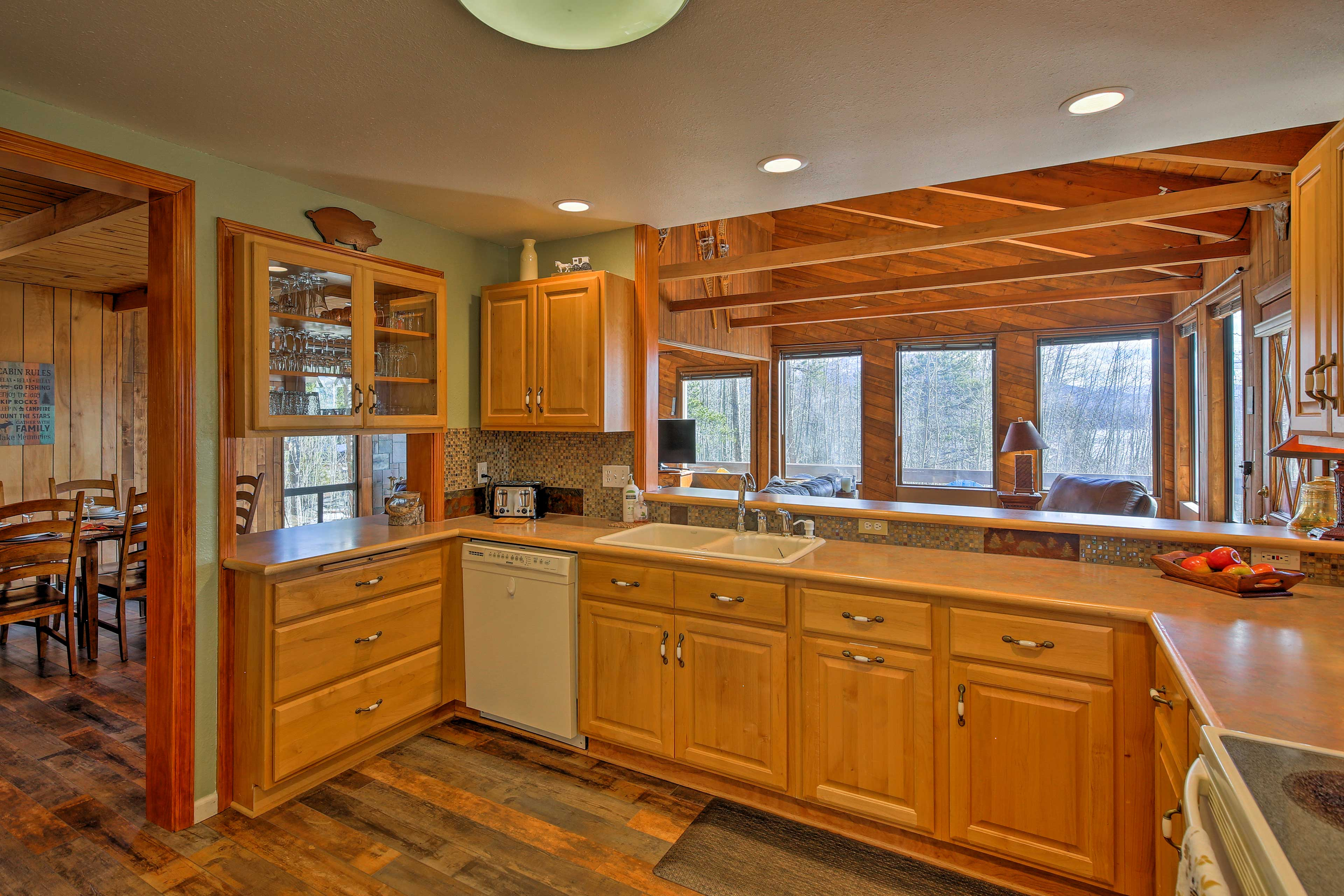This kitchen has all of the culinary essentials of home.