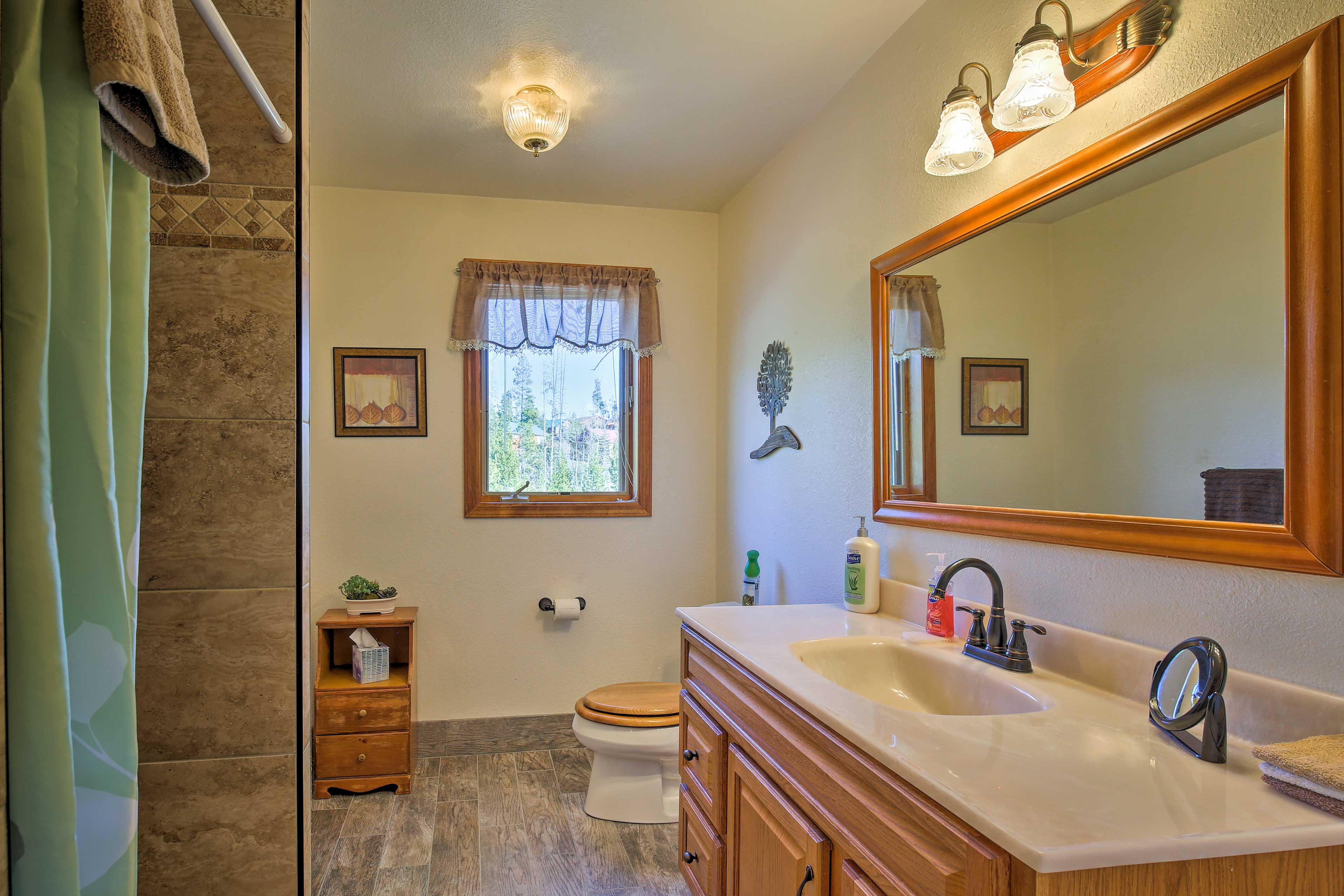 The 3 bathrooms provide adequate space for everyone to get ready each morning.
