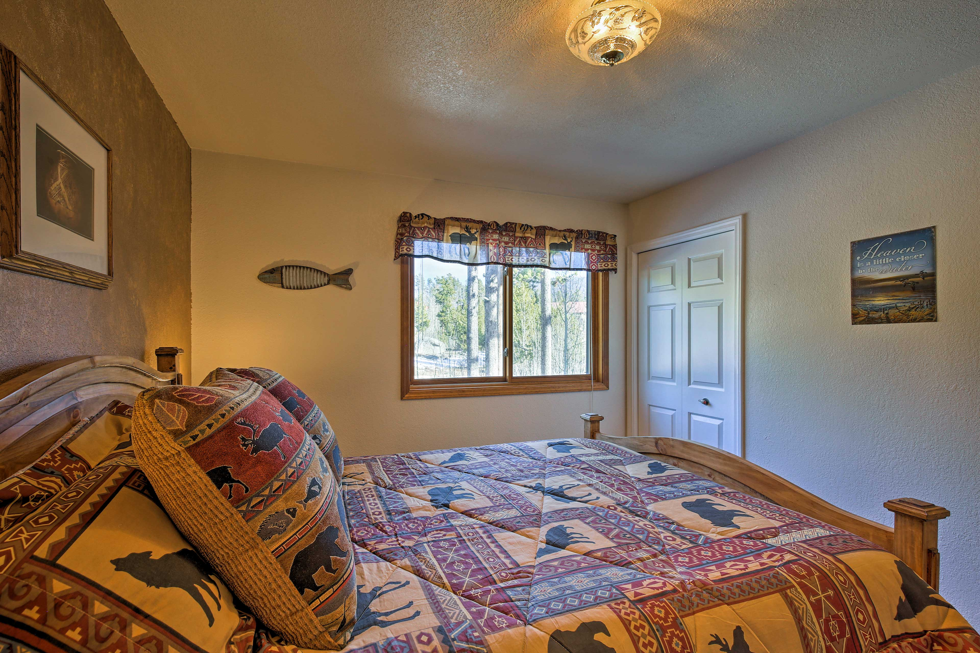 Wake up feeling refreshed as natural light pours into the room.