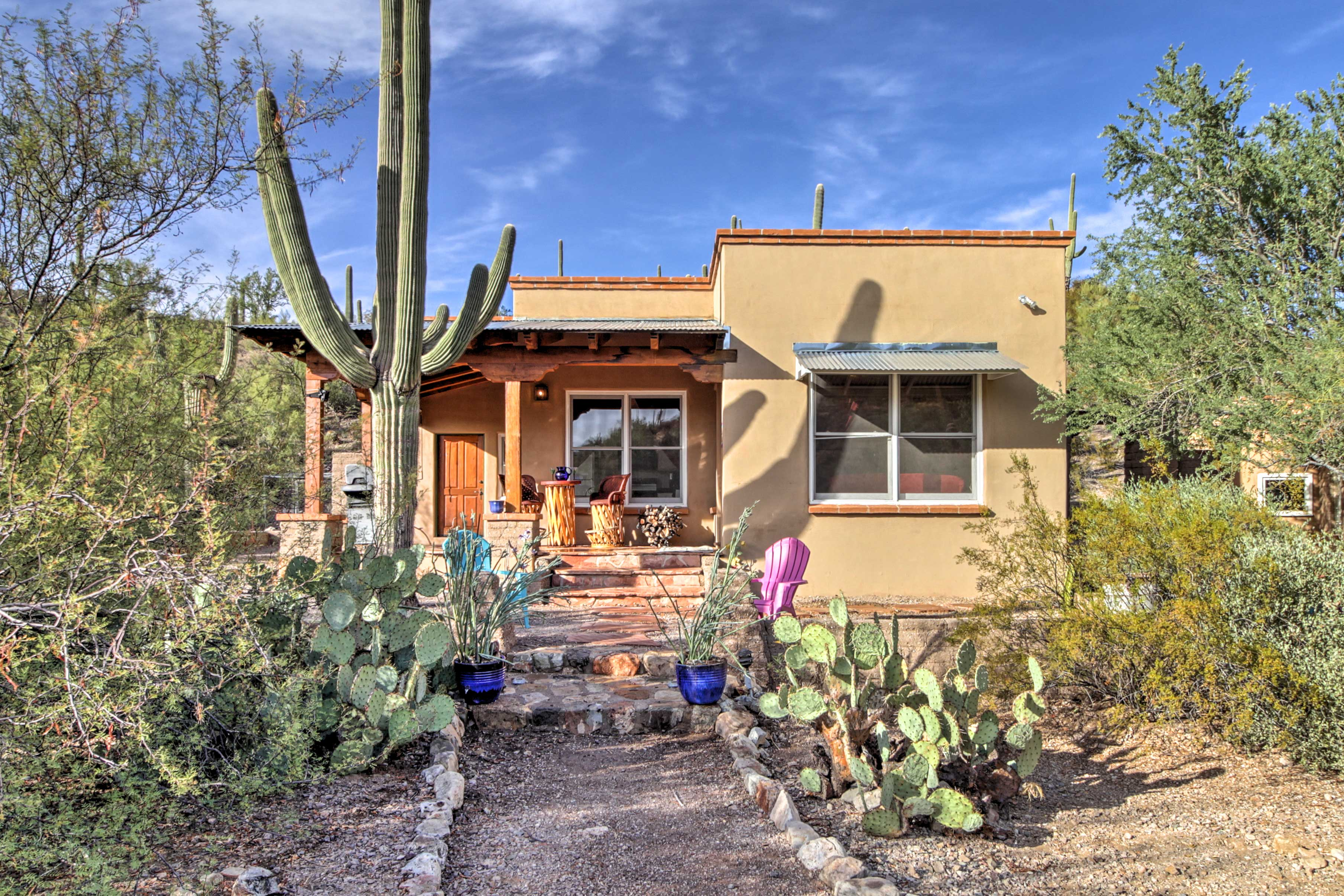 Tucson Vacation Rental | 1BR | 1BA | 750 Sq Ft | Steps Required