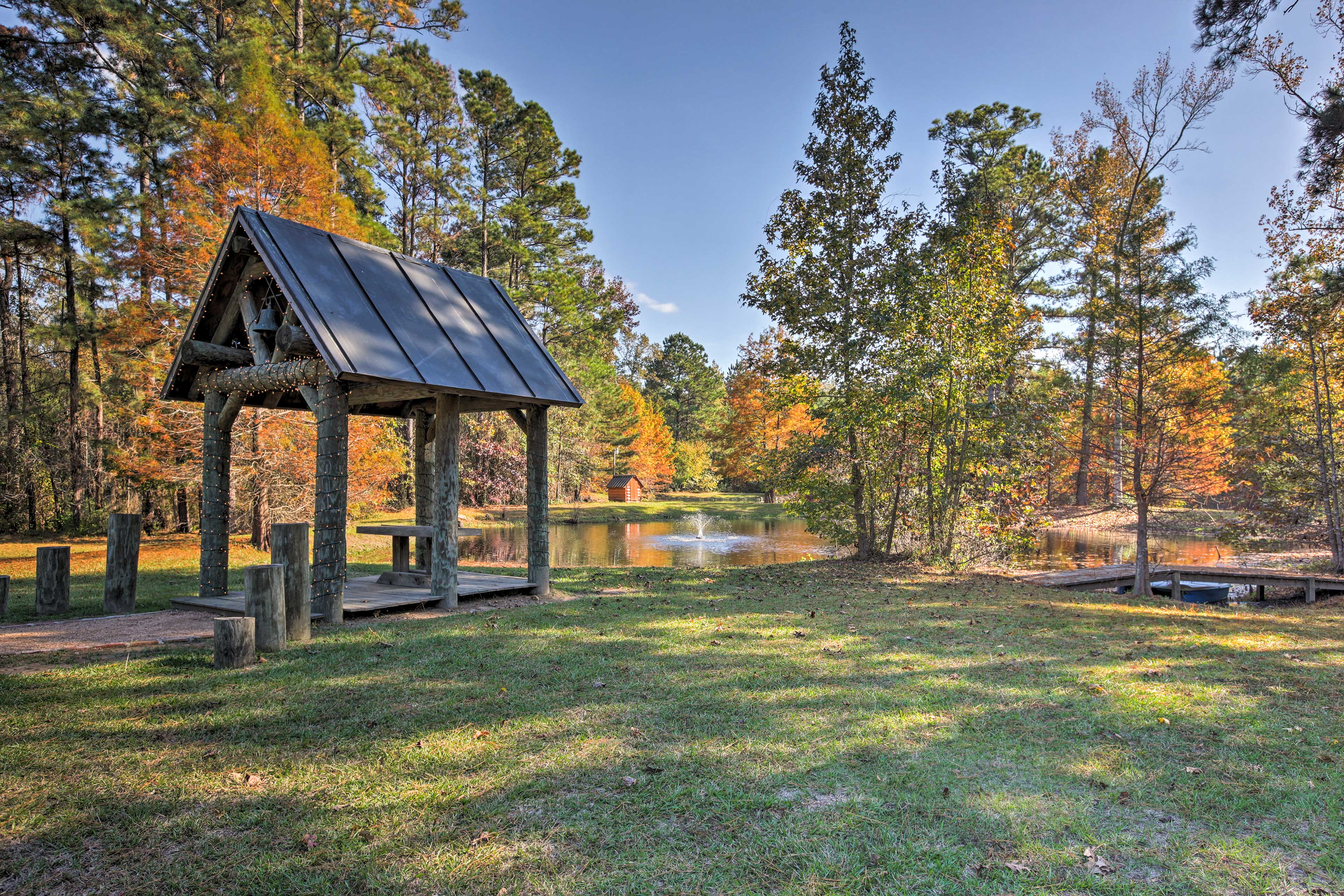 Bring a picnic to the covered gazebo!