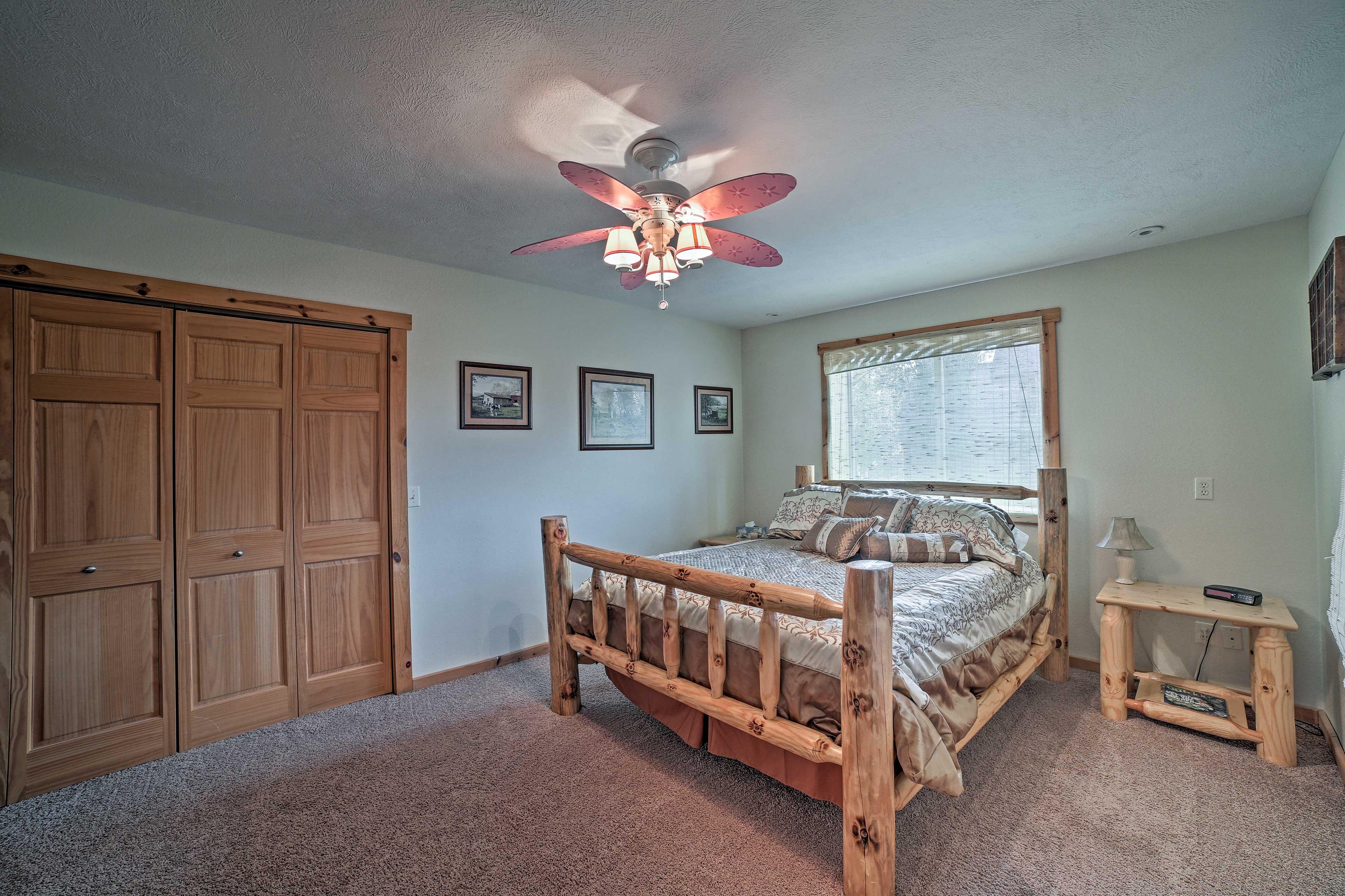 The third bedroom hosts a queen bed.