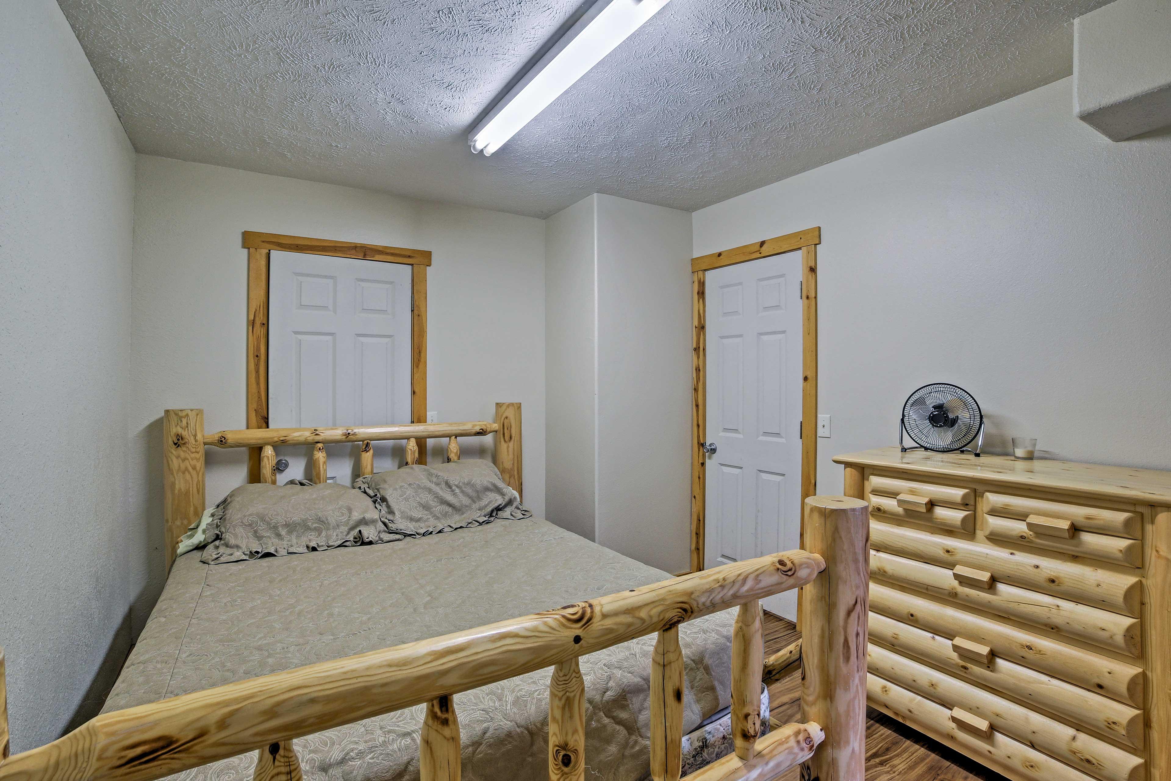 Bedroom 4 includes a cozy queen bed.