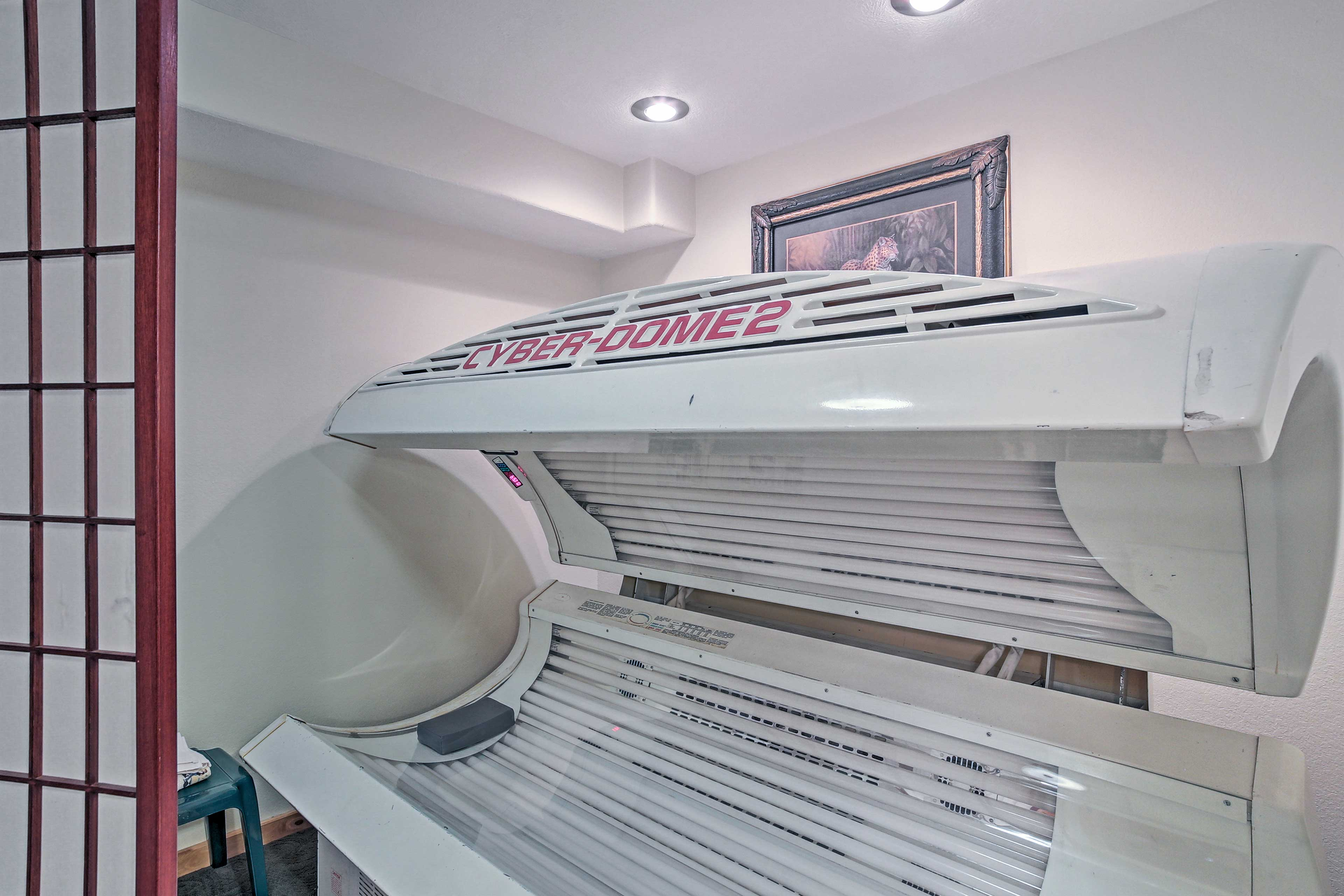 Keep a tan even in the winter using the private commercial tanning bed.