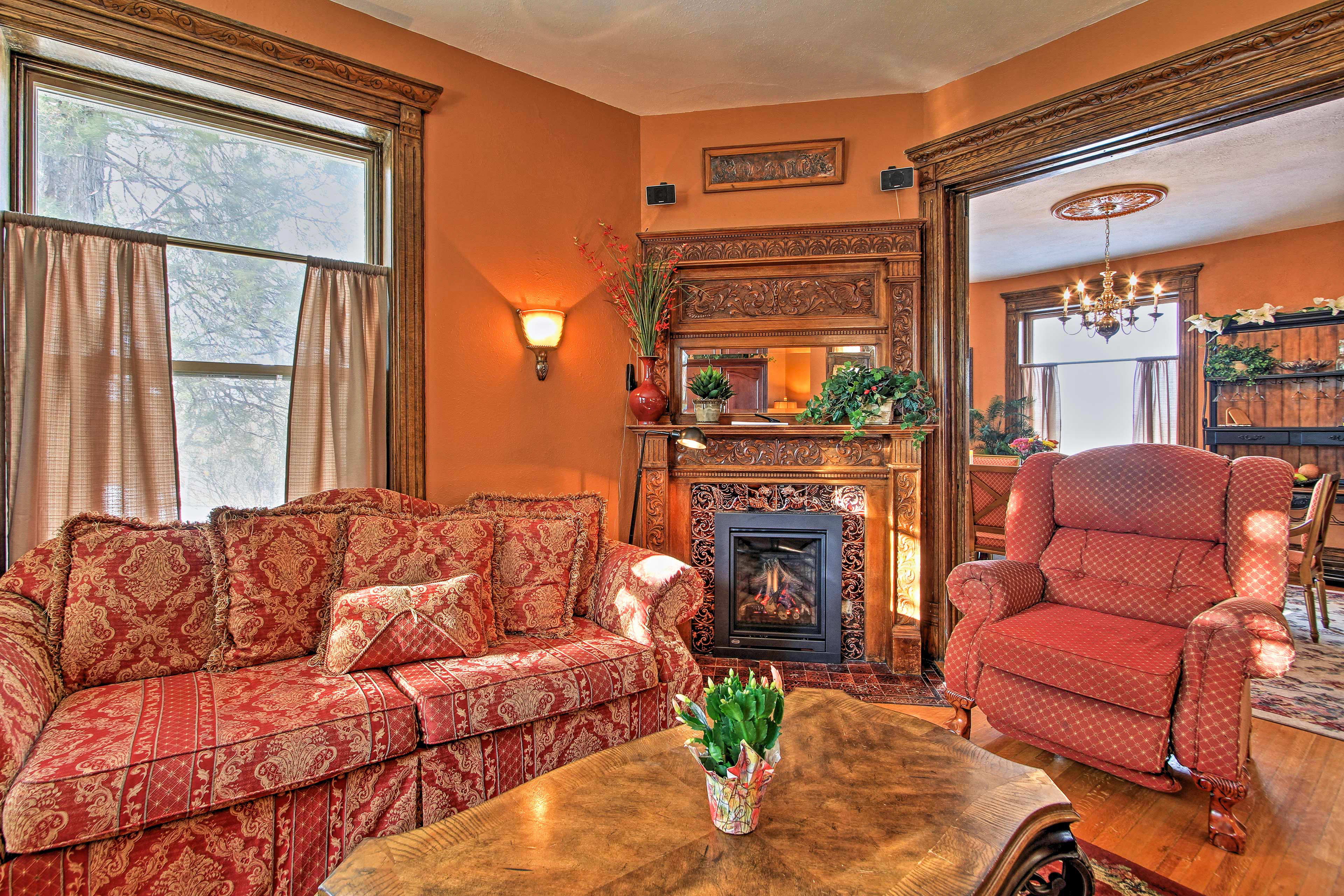 The living room is sure to be a frequent gathering spot.