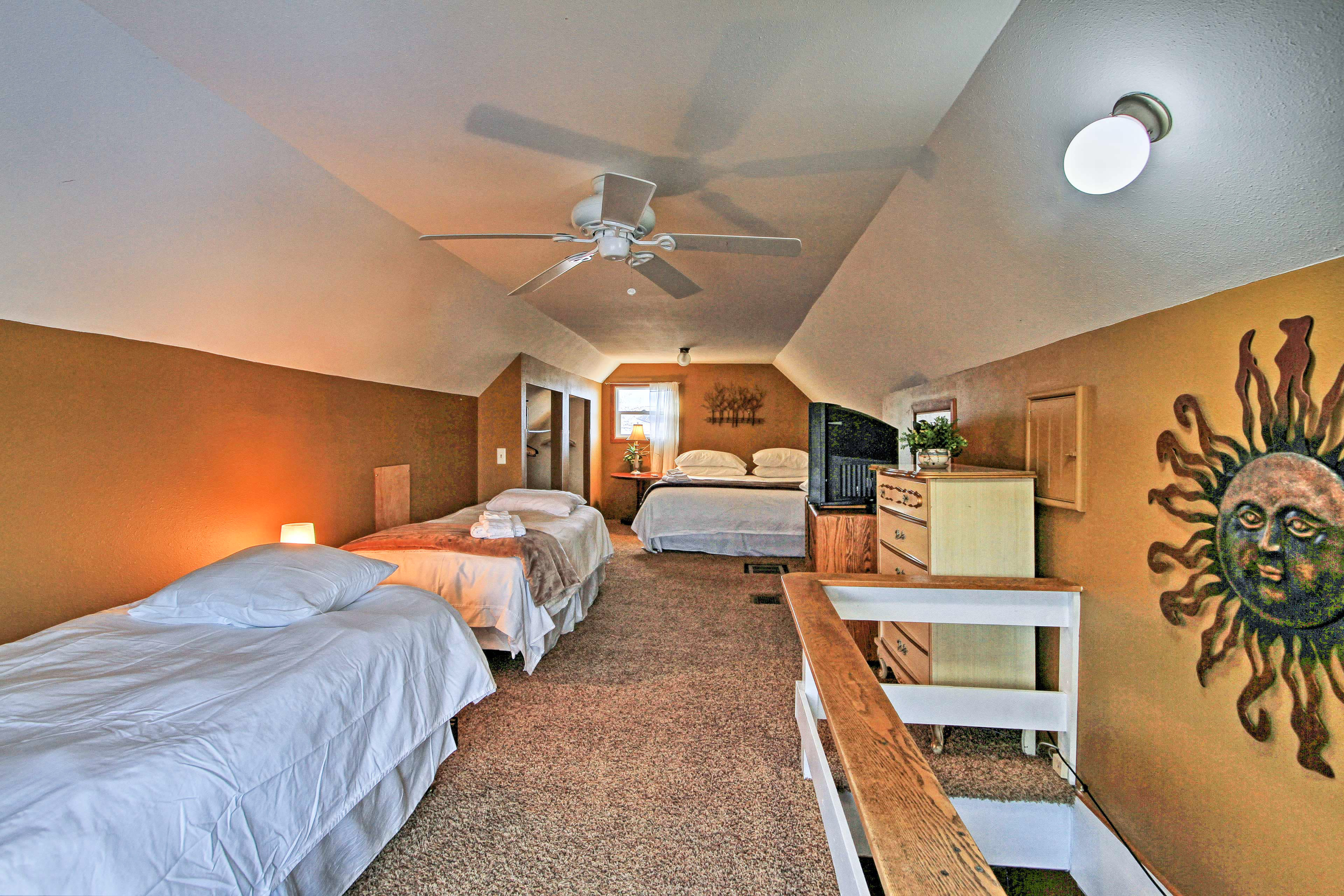 This large room sleeps 4 and is ideal for kids!