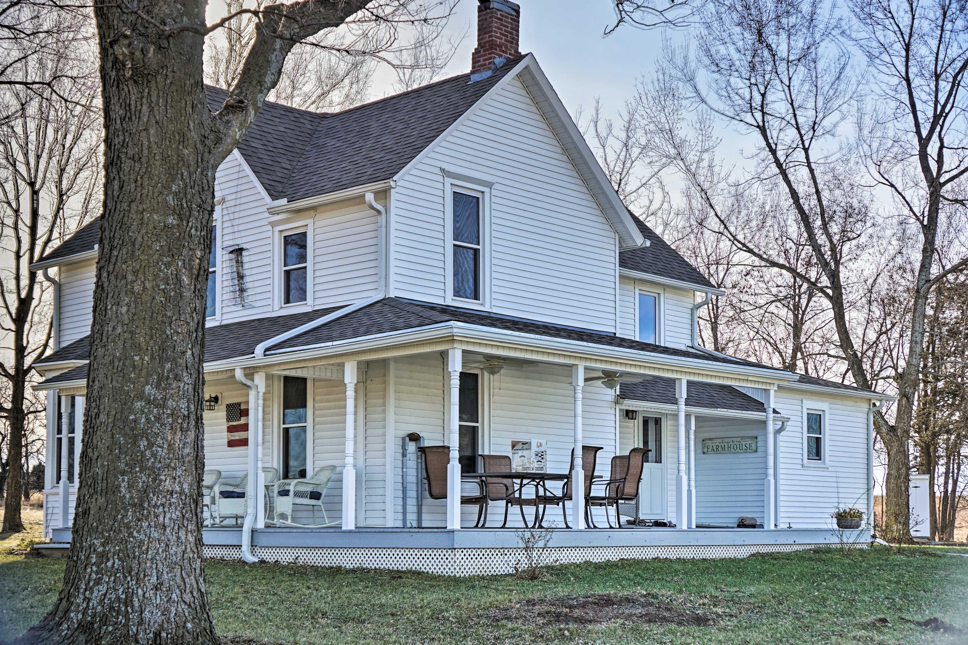 A bucolic getaway awaits at this historic Lecompton vacation rental farmhouse!