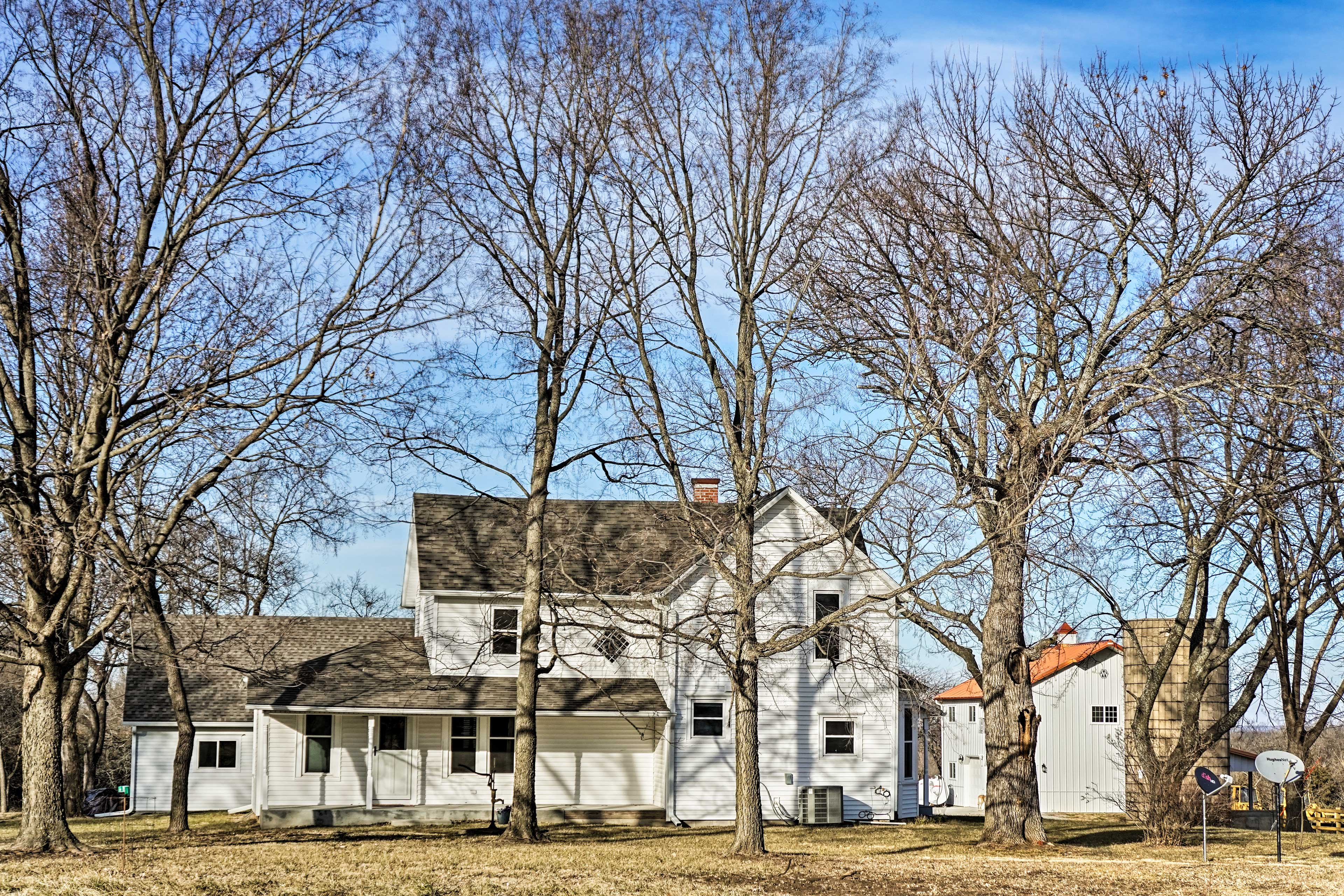 Newly remodeled in 2016, this historic farmhouse maintains its century-old charm