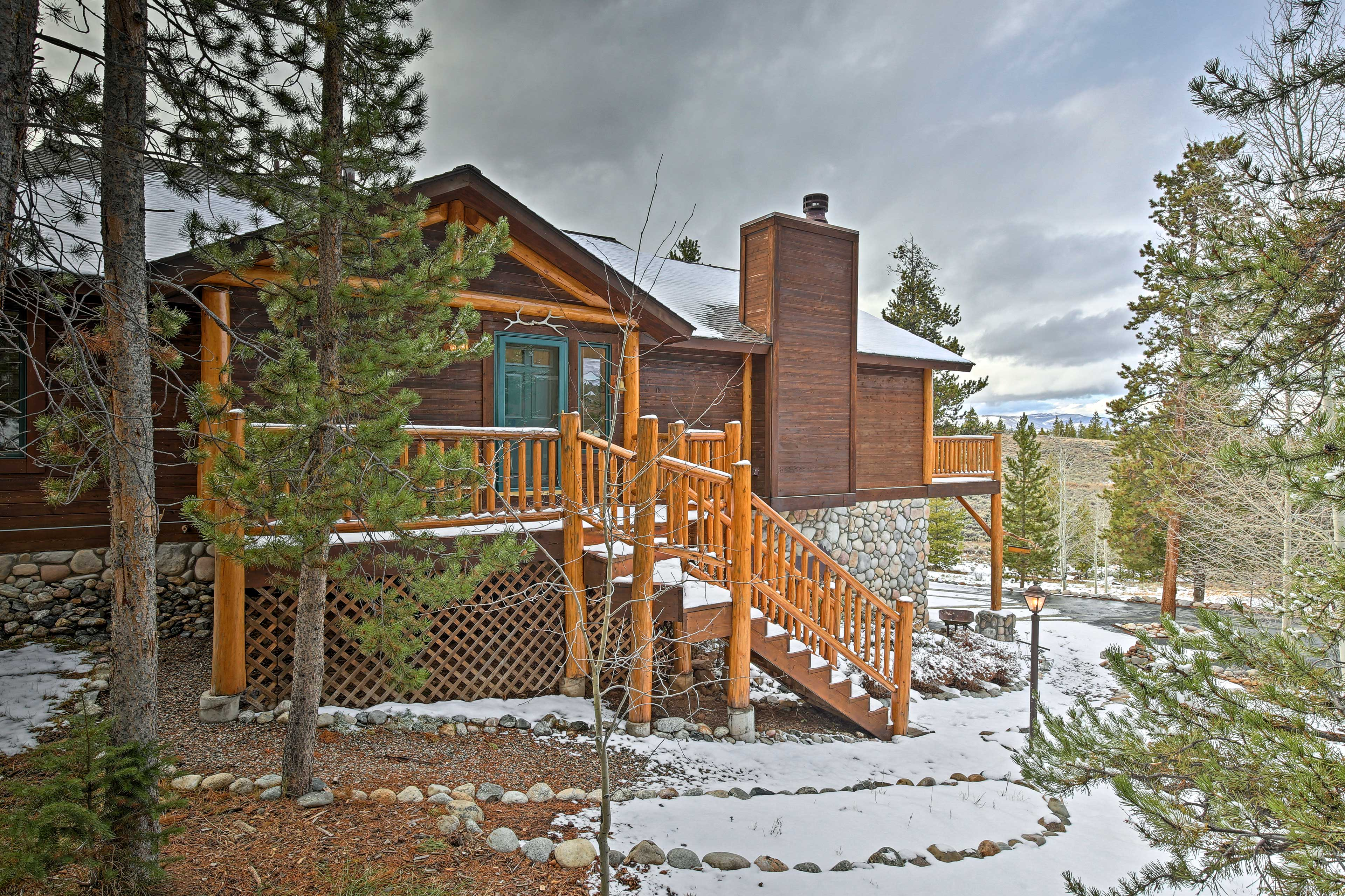Embark on a mountain-side escape at this vacation rental house in Granby!