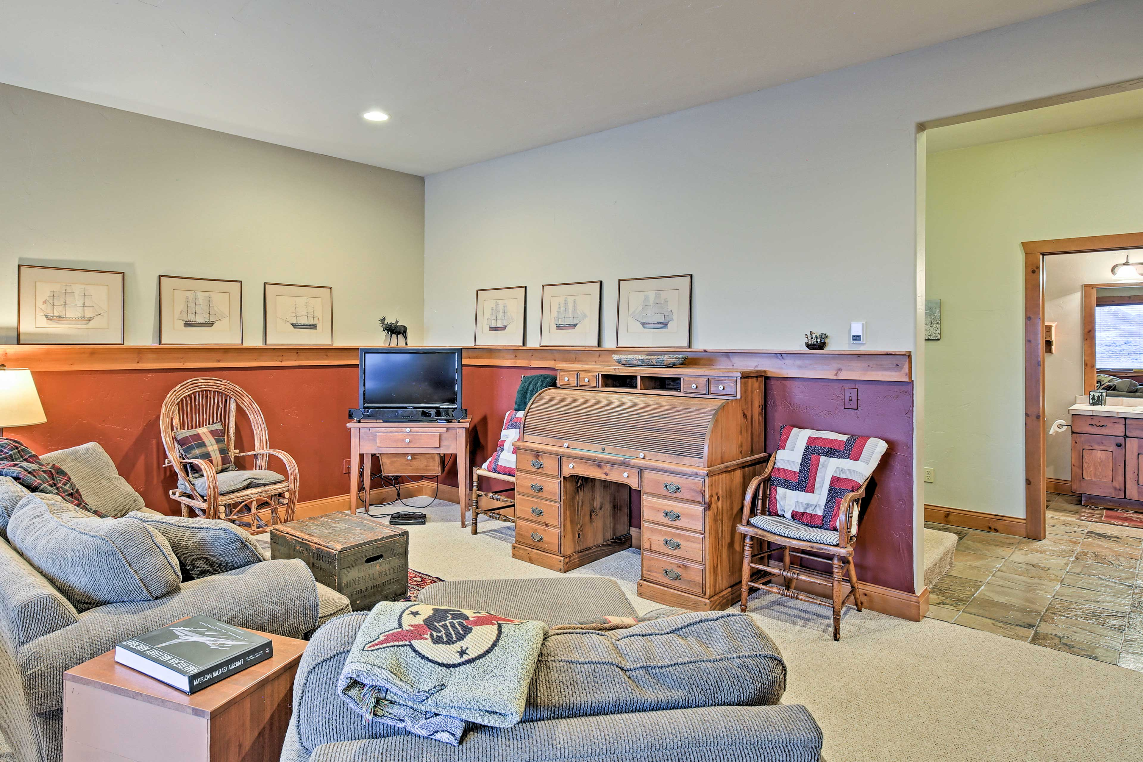The basement is great for spreading out within the home.
