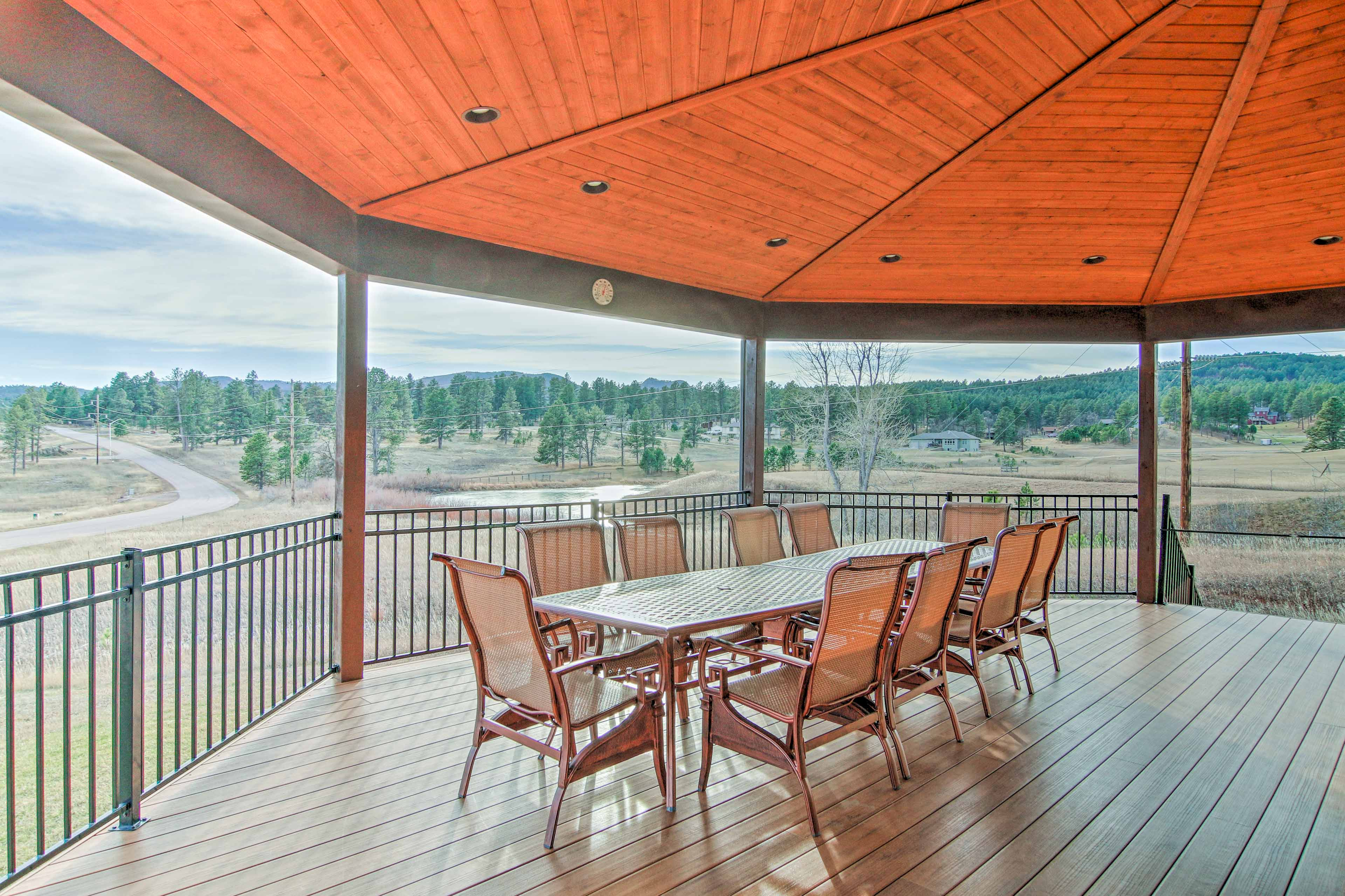 Treat guests to an al fresco dining experience on the shaded deck.
