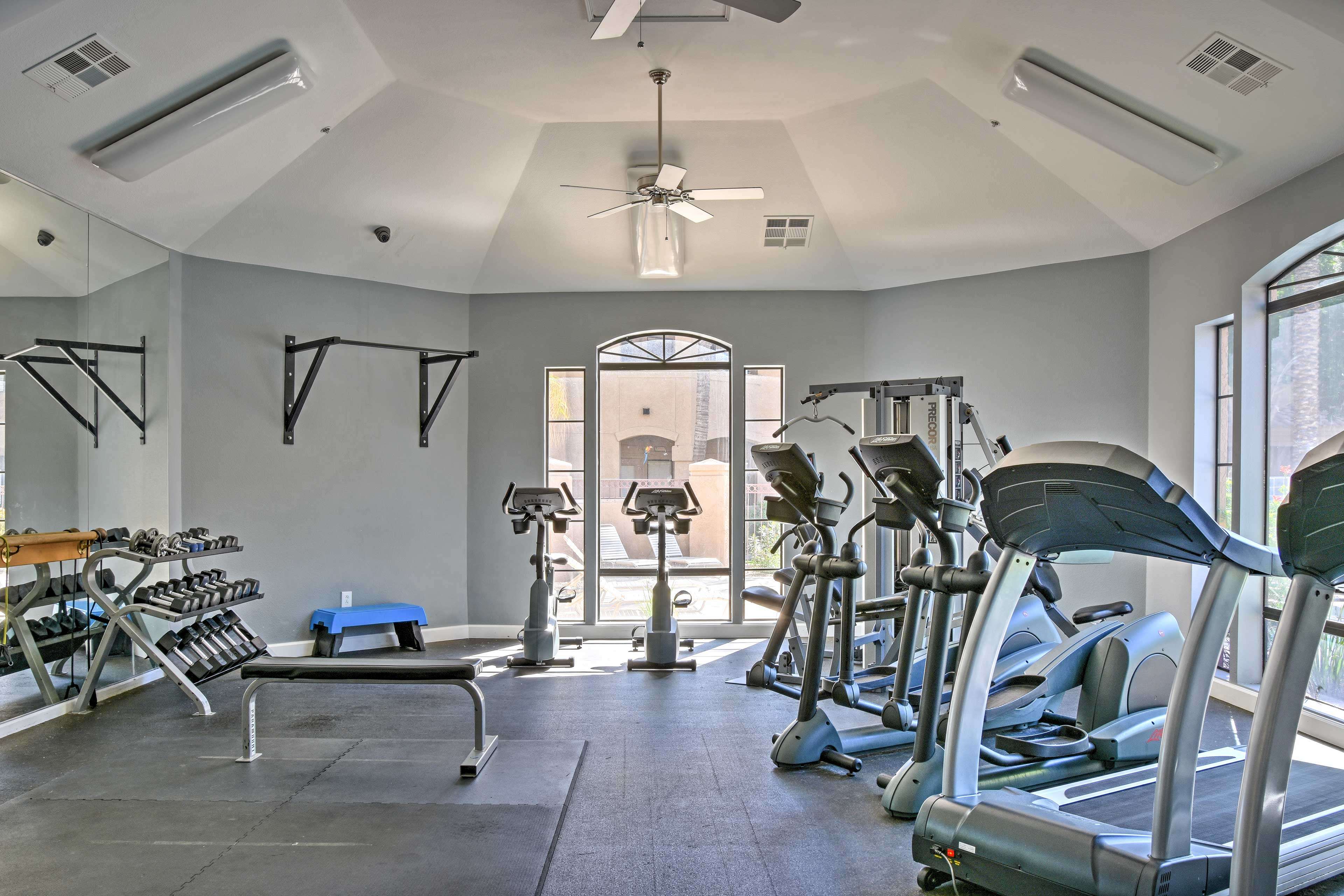 Feel free to get a workout in using the fitness facilities.
