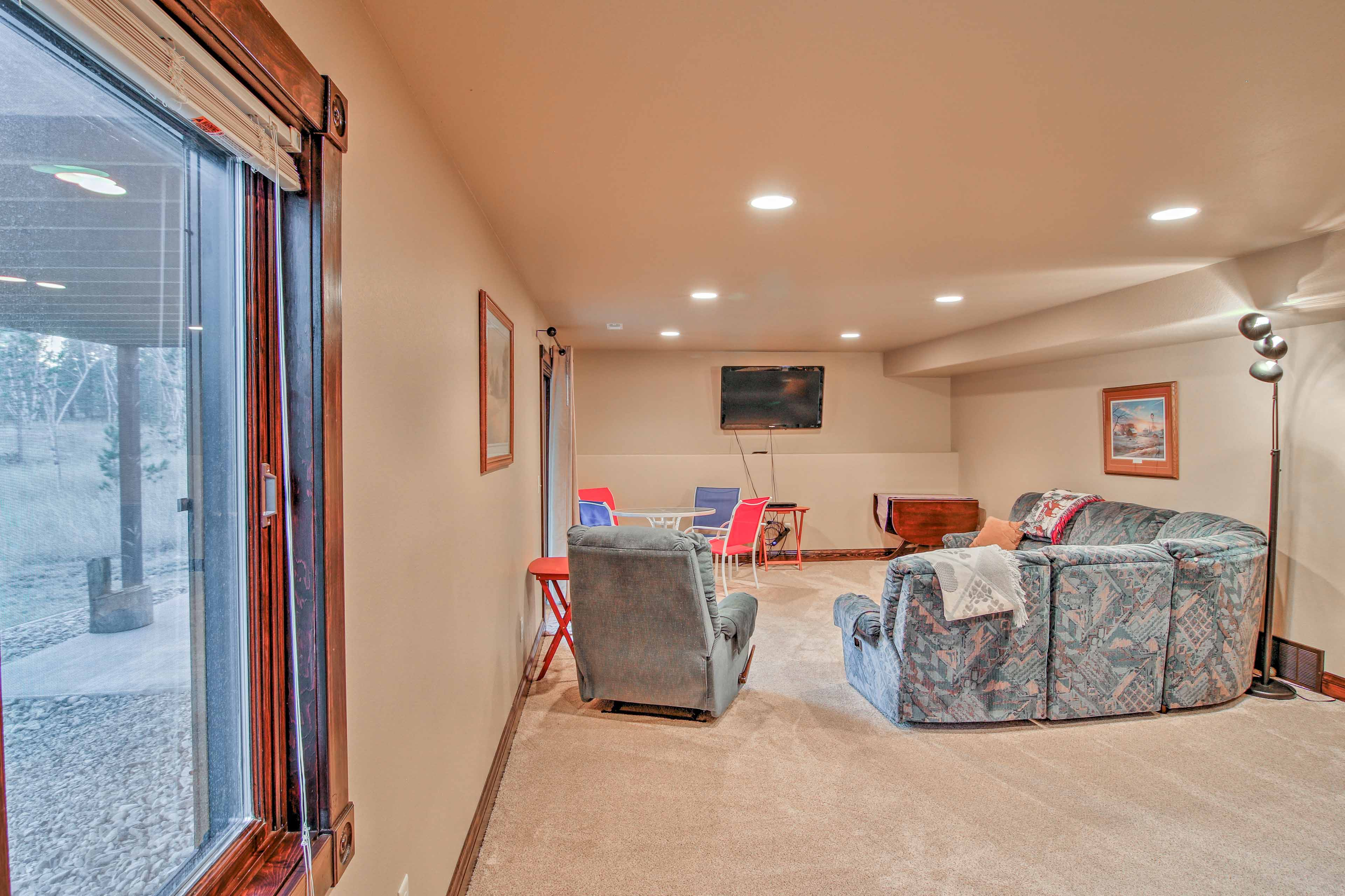 Downstairs you'll find a large game room - perfect for those easy afternoons spent inside.