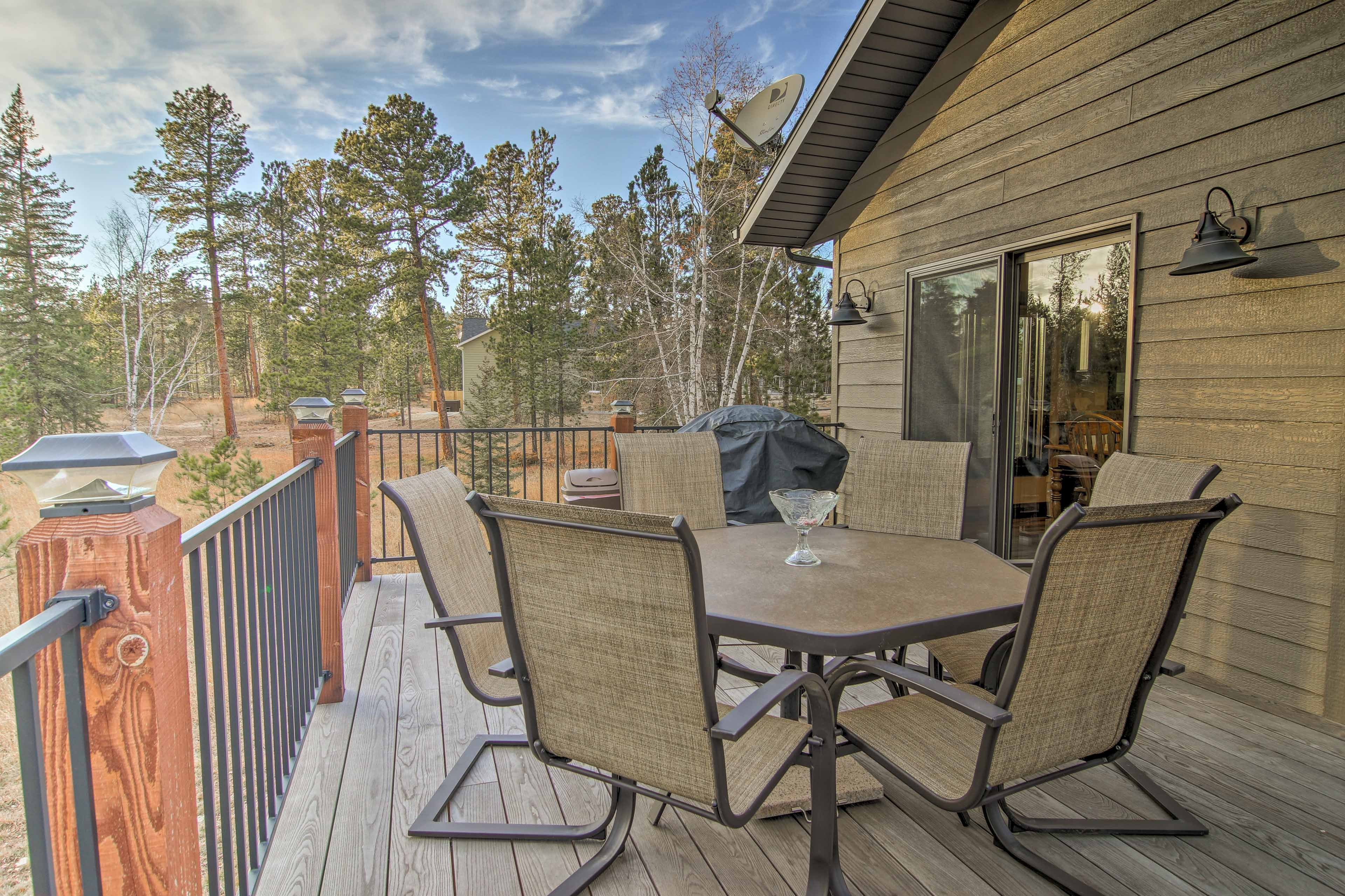 Fire up the gas grill for an at-home picnic on the second-floor deck.