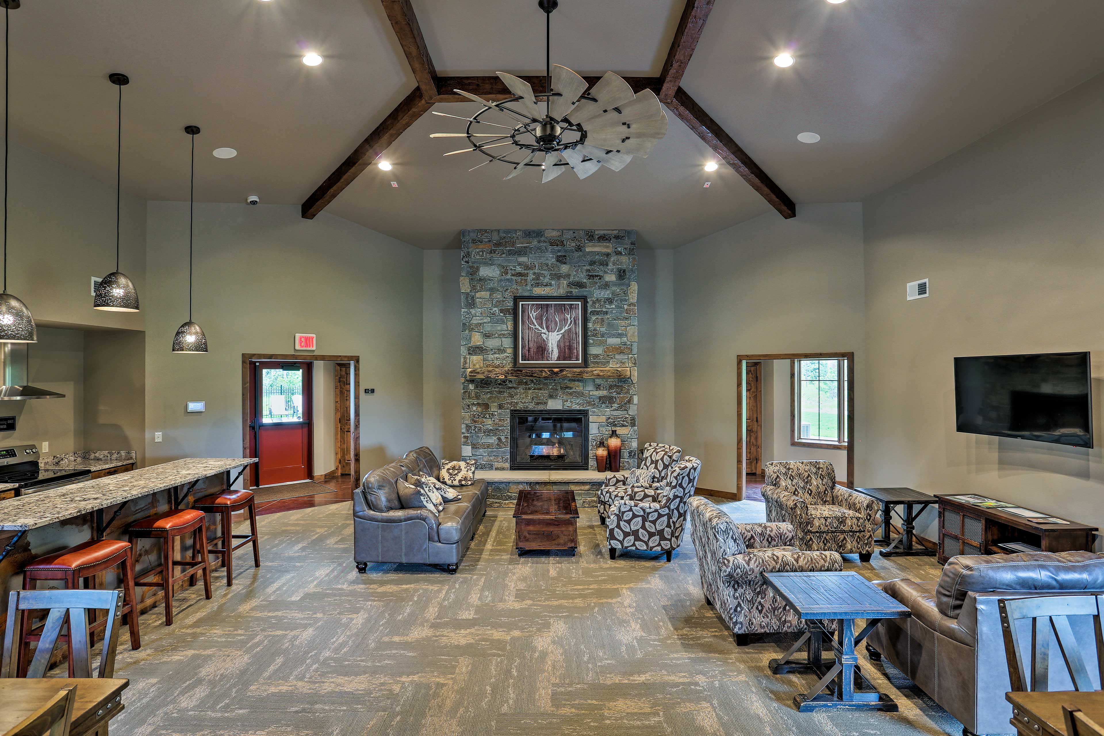 Unwind in the lounge space boasting fantastic, modern amenities.