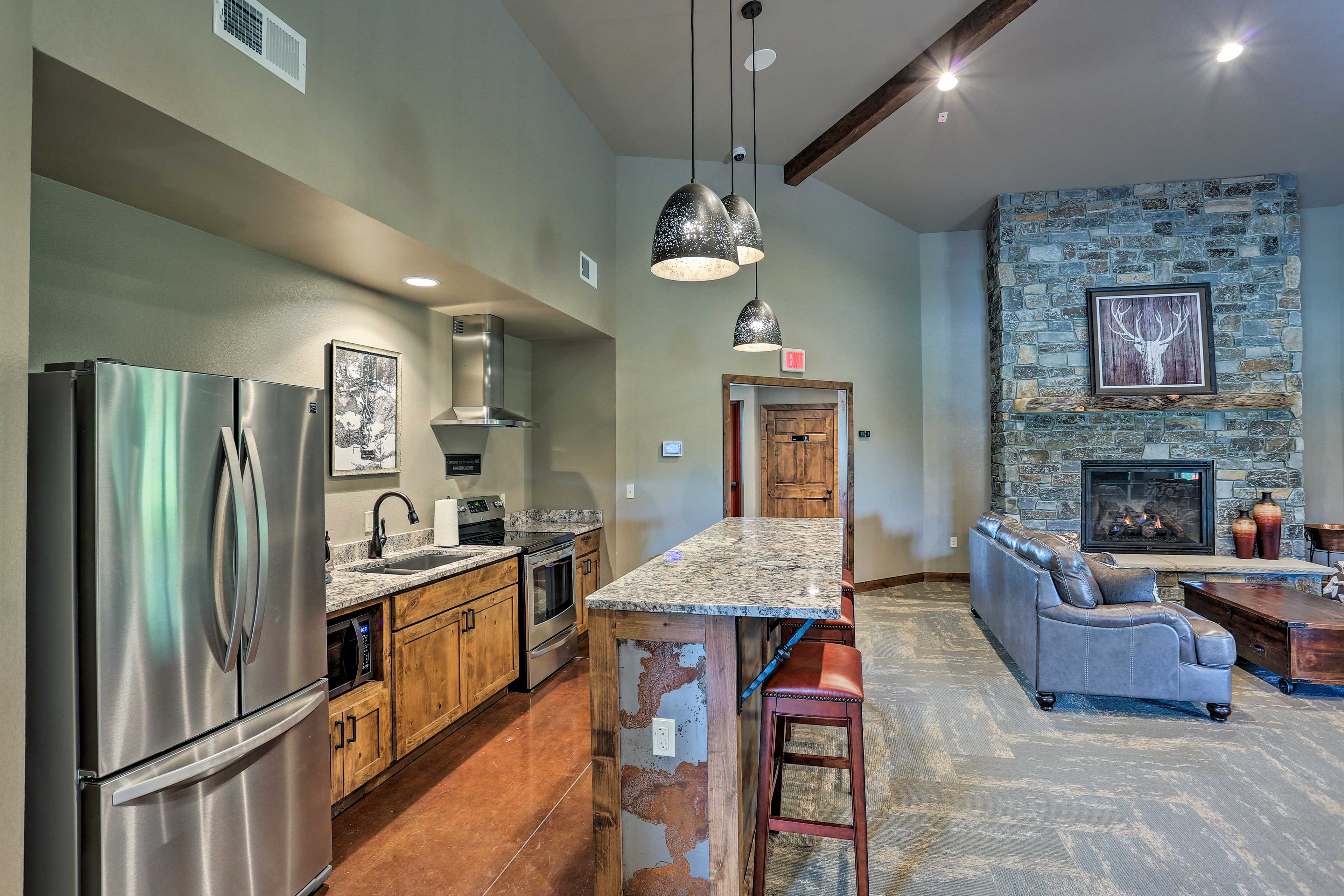 There's even a community kitchen with all the amenities.