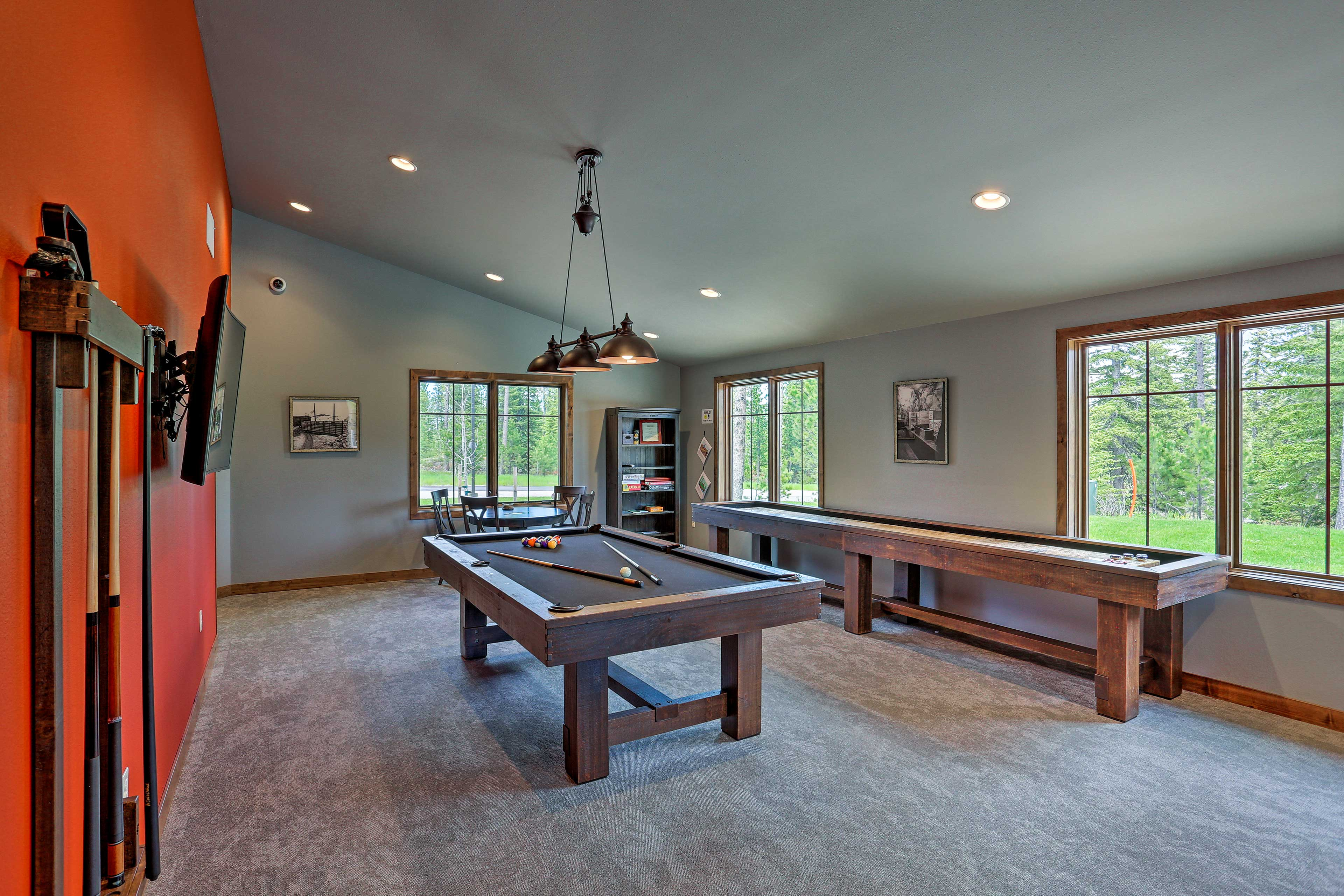 Shuffleboard, pool, or board games; the choice is yours!