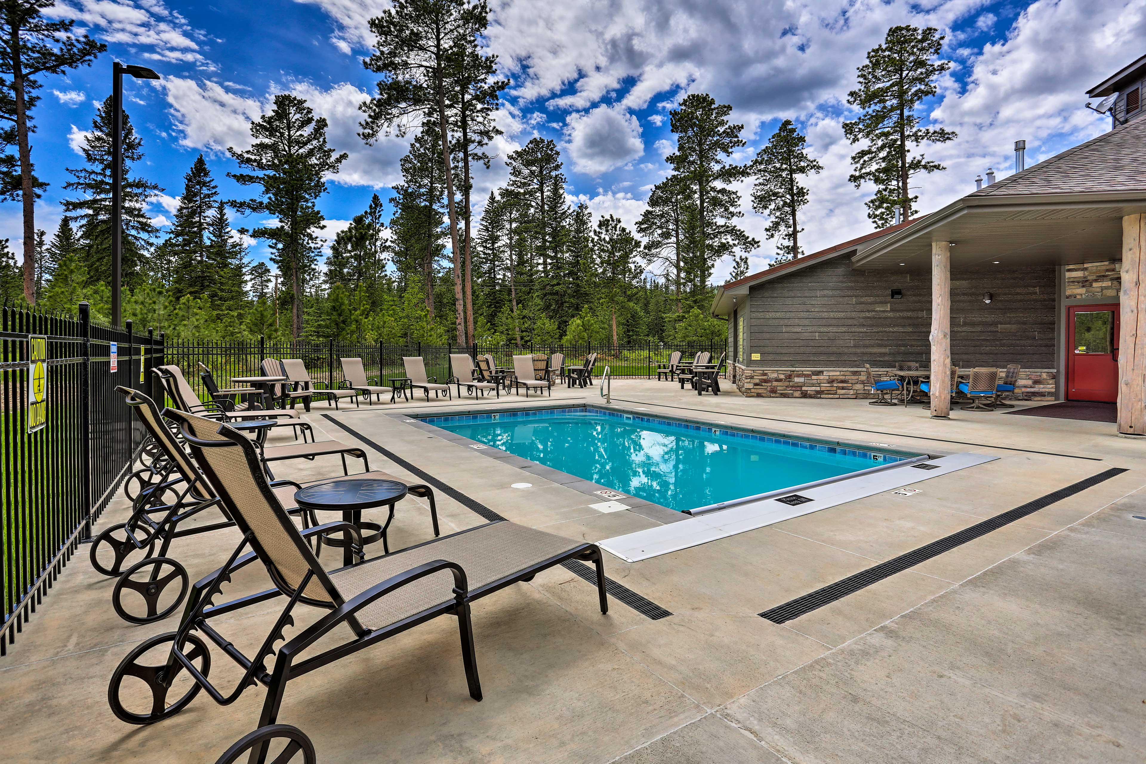 The pool is the ideal spot to lounge away the day.