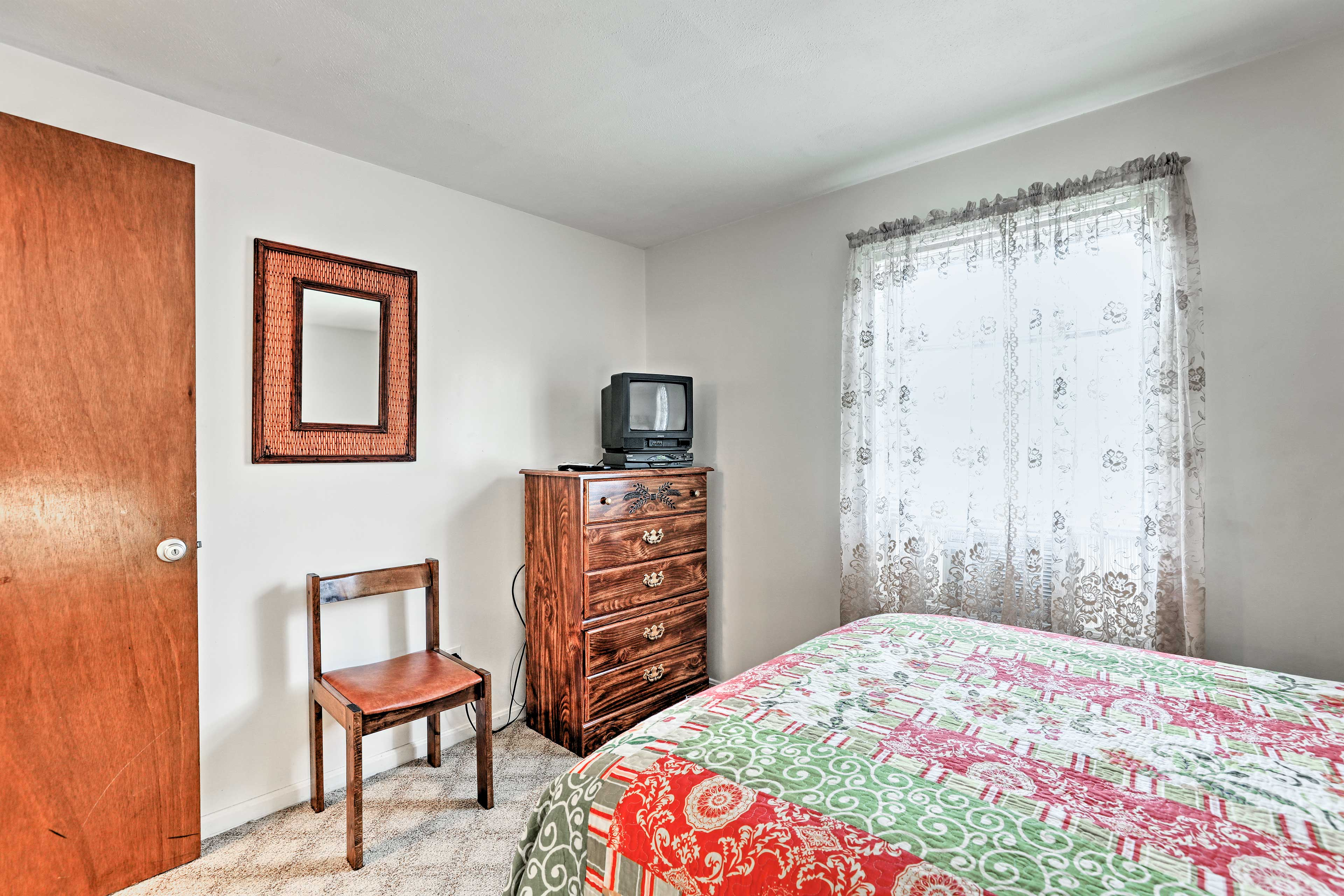 Relive the good ol' days while you watch reruns on the TV in the third bedroom.