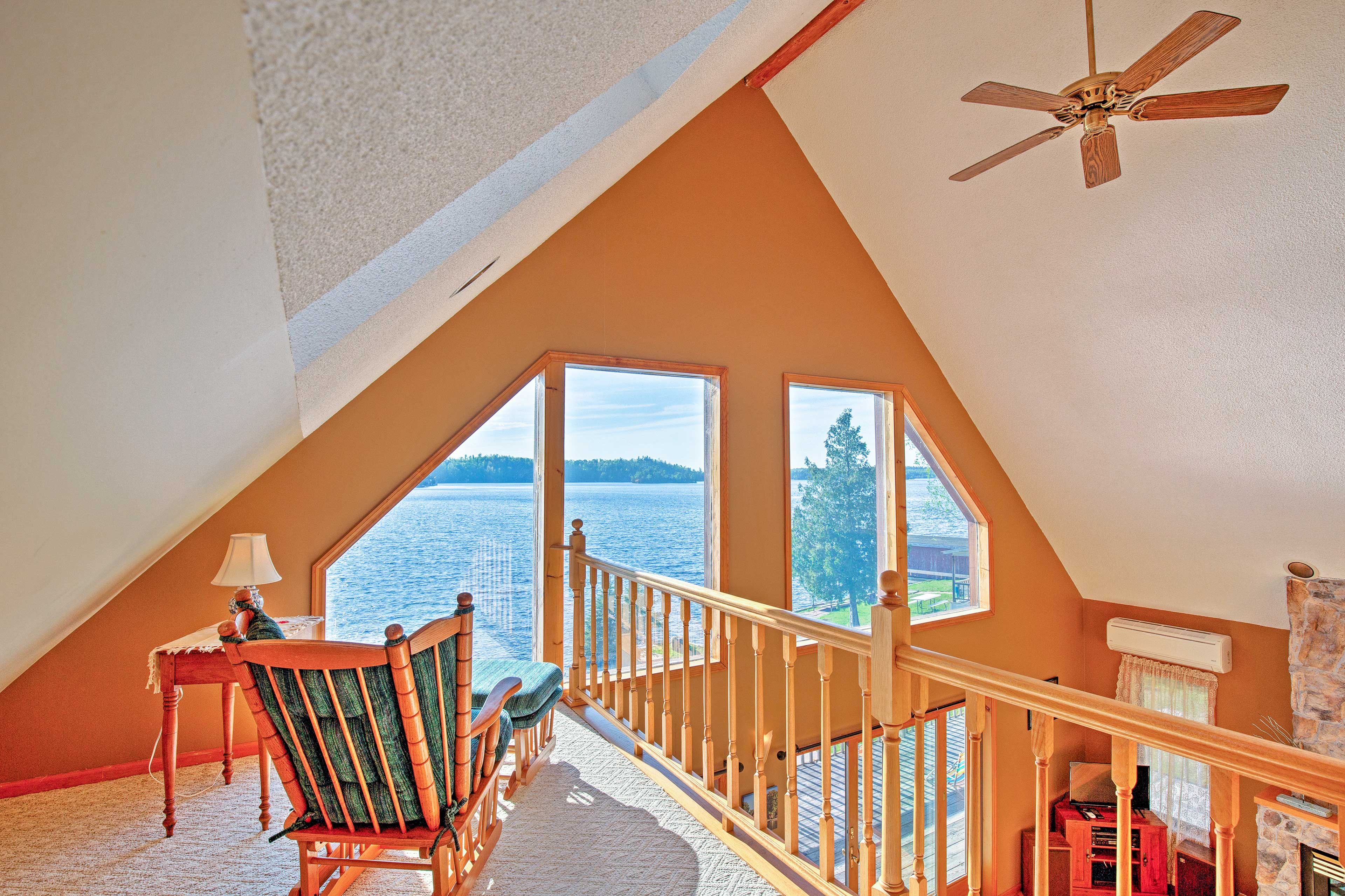 Catch up on your favorite novel in the loft with picturesque views.