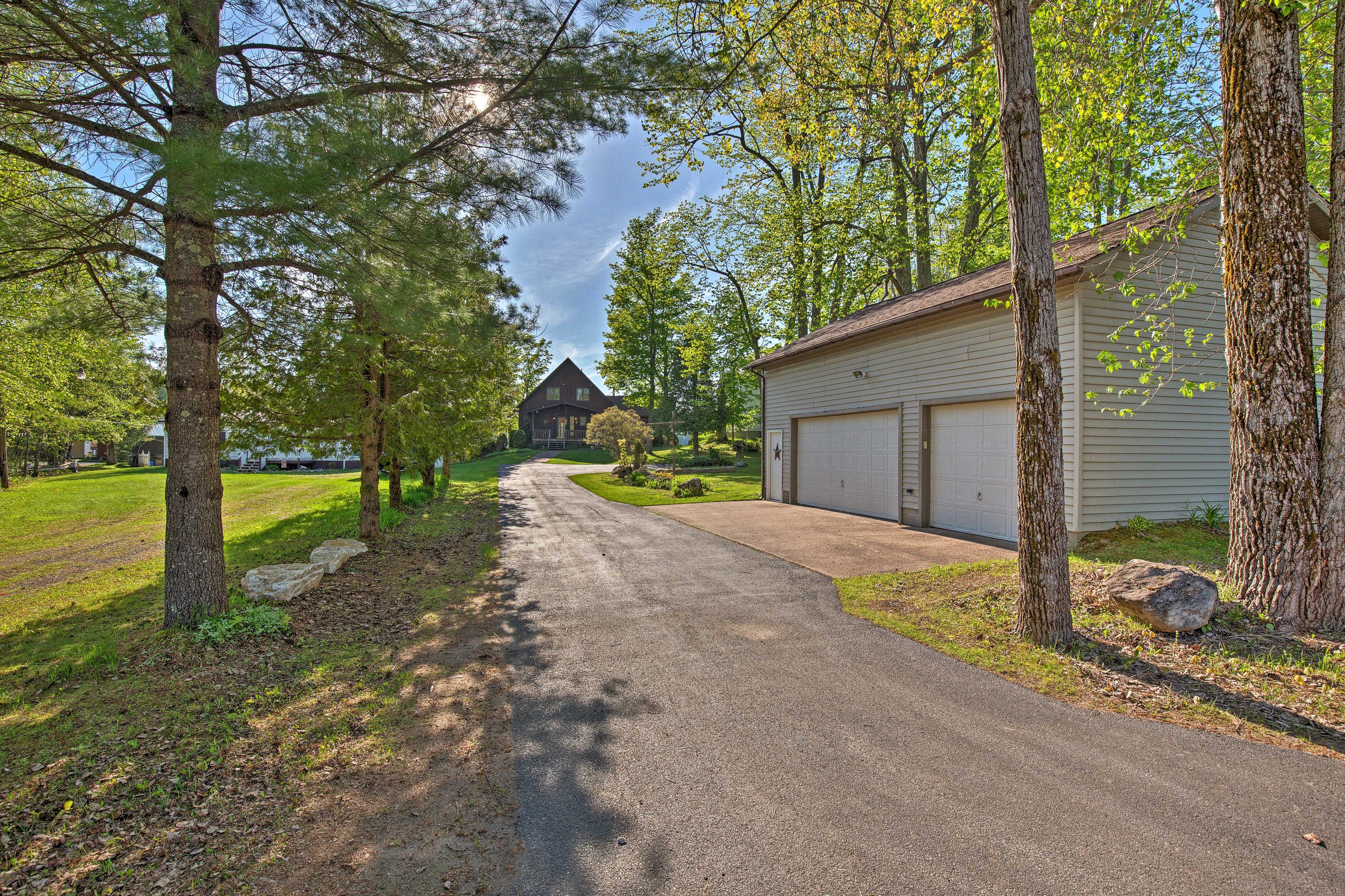 Follow the tree-lined driveway to your new home-away-from-home.