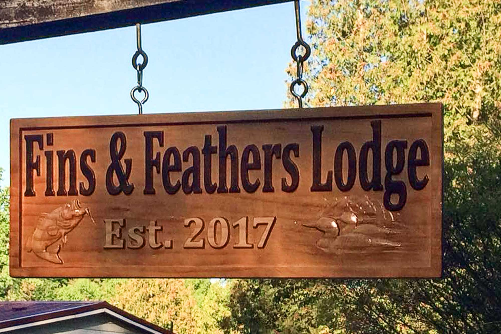 Pack your bags and head to 'Fins & Feathers Lodge!'