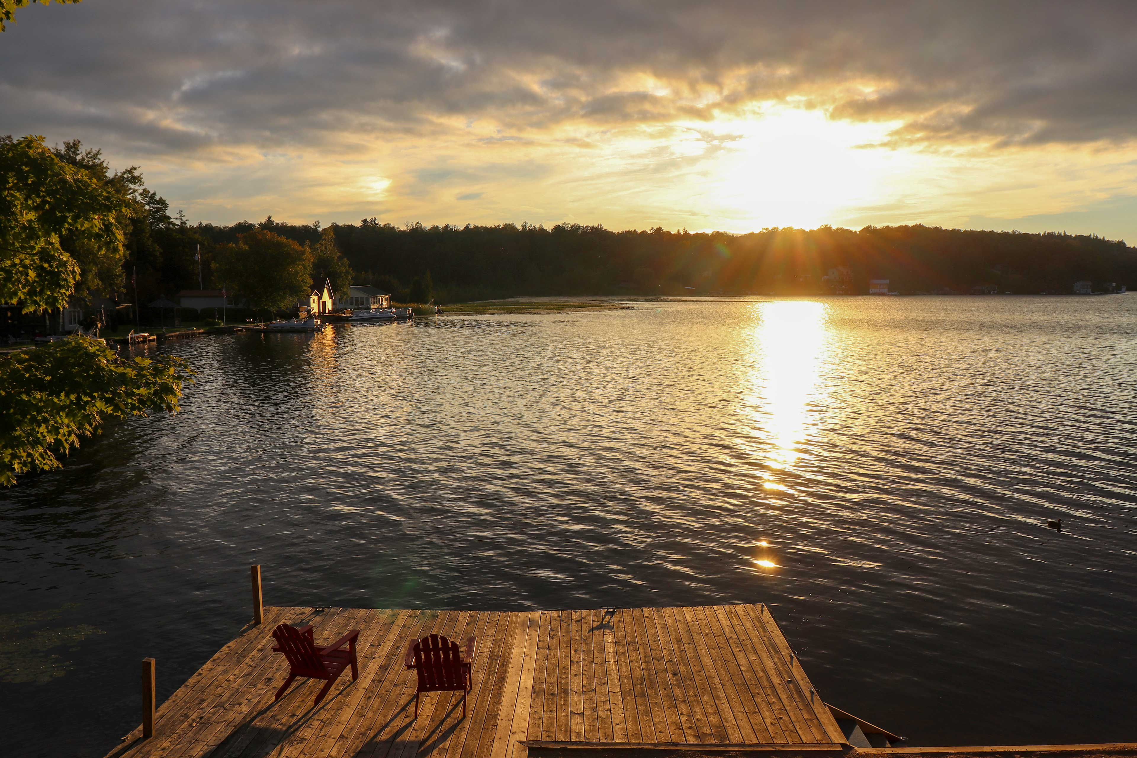 No matter the time of day, the dock is sure to take your breath away.