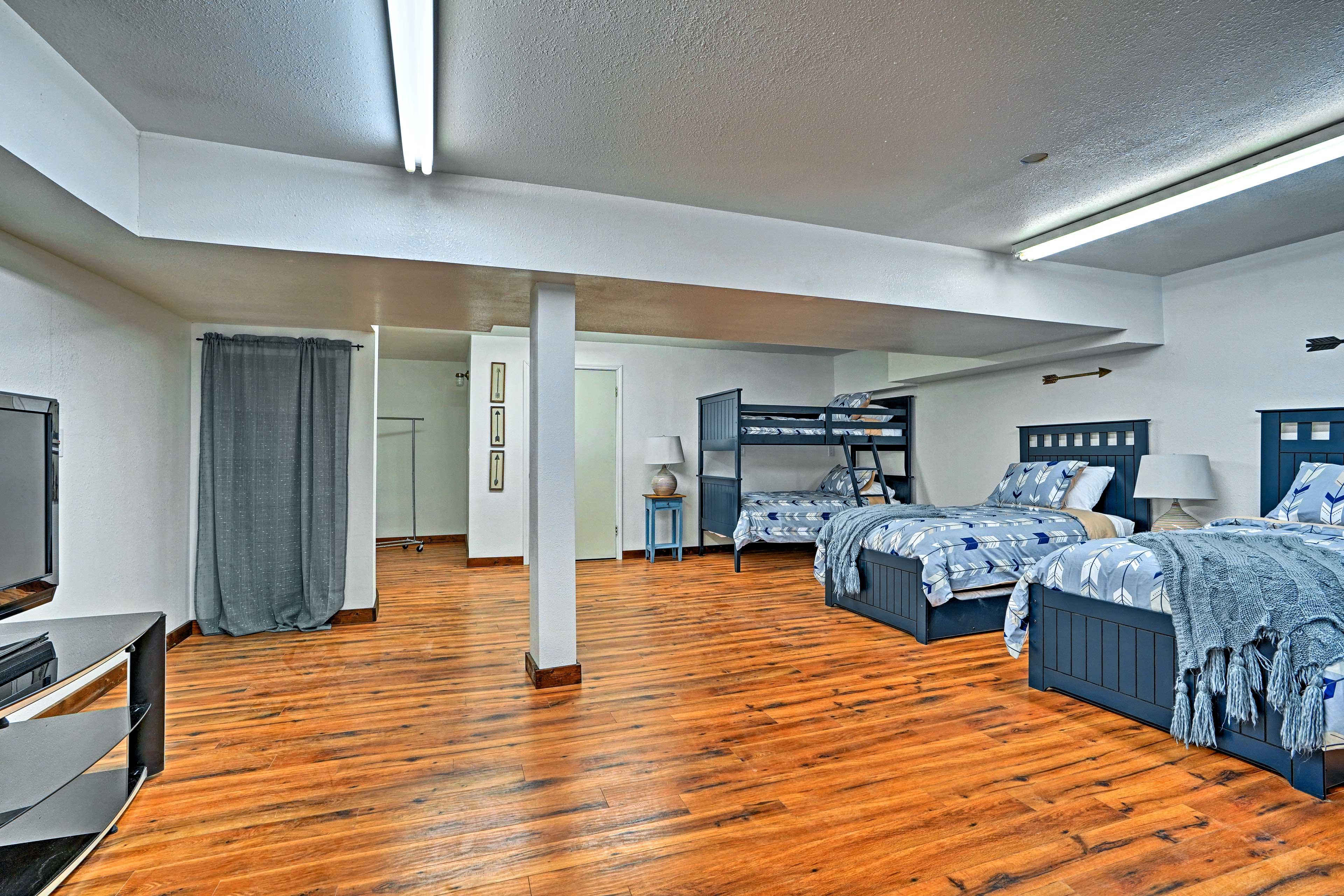 Bedroom 5 | 2 Twin Bunk Beds | 2 Twin Beds w/Twin Trundles | Queen Sleeper Sofa