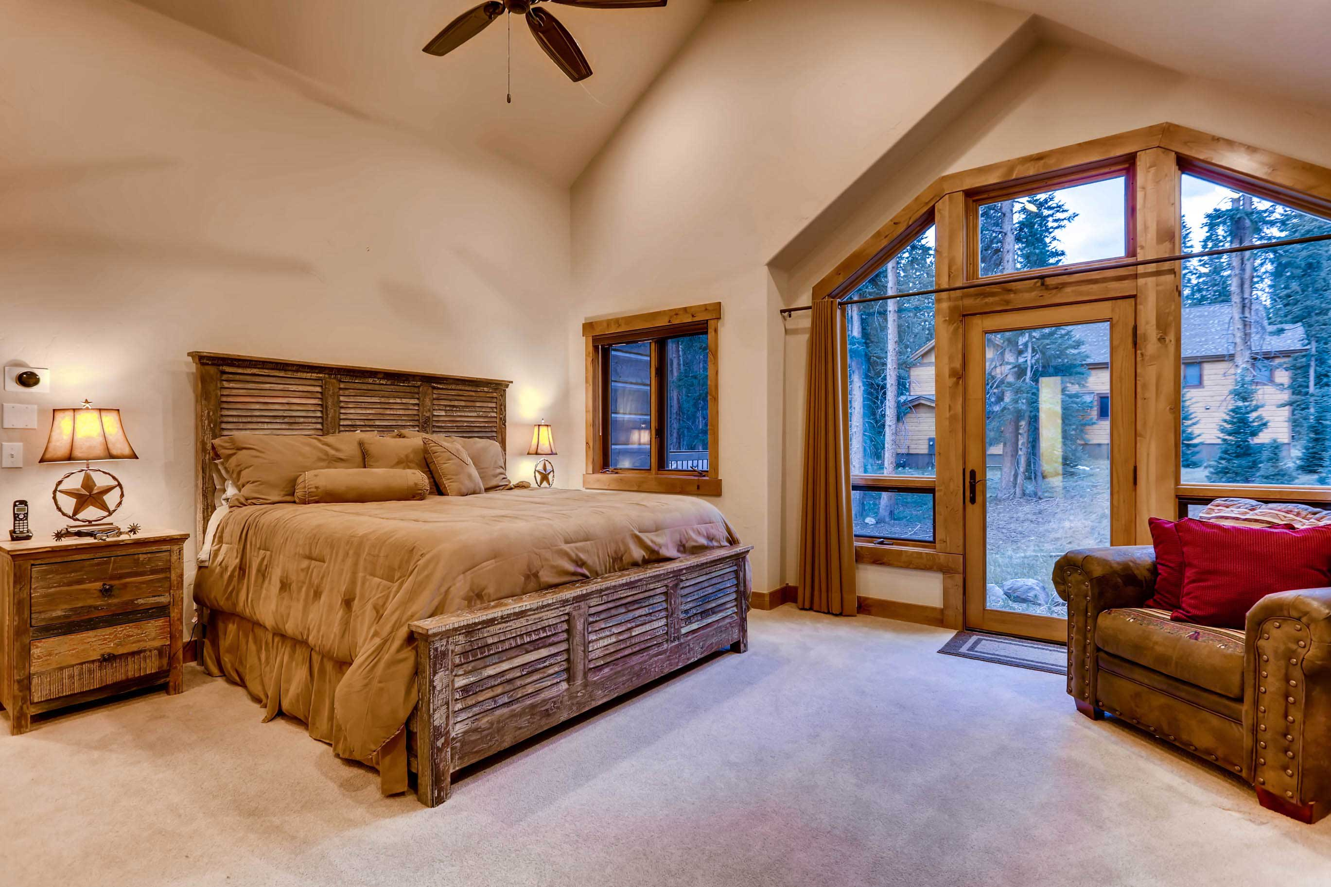 Step outside onto the deck right from the bedroom.