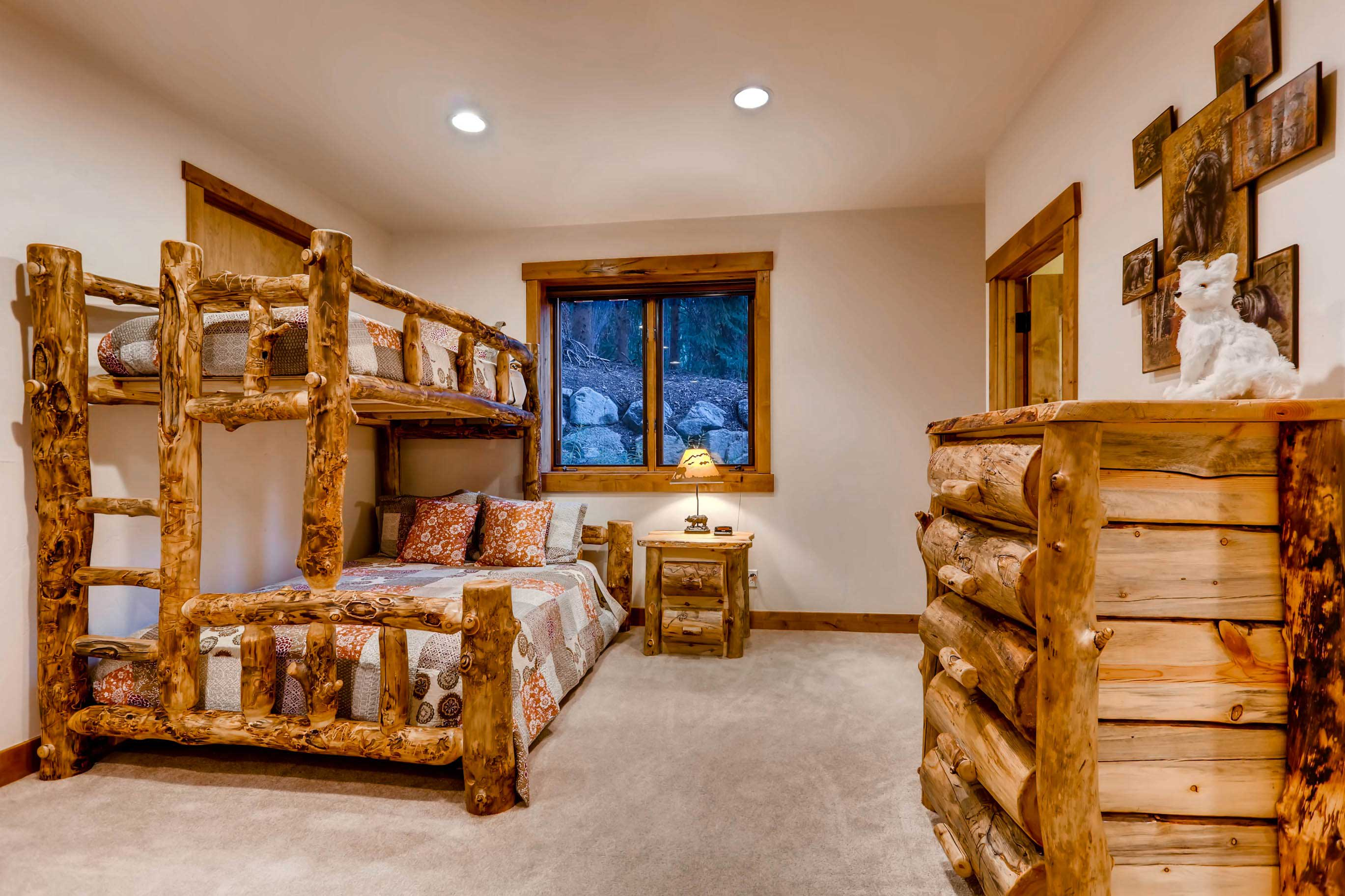 Additional sleeping arrangements are available in the basement.